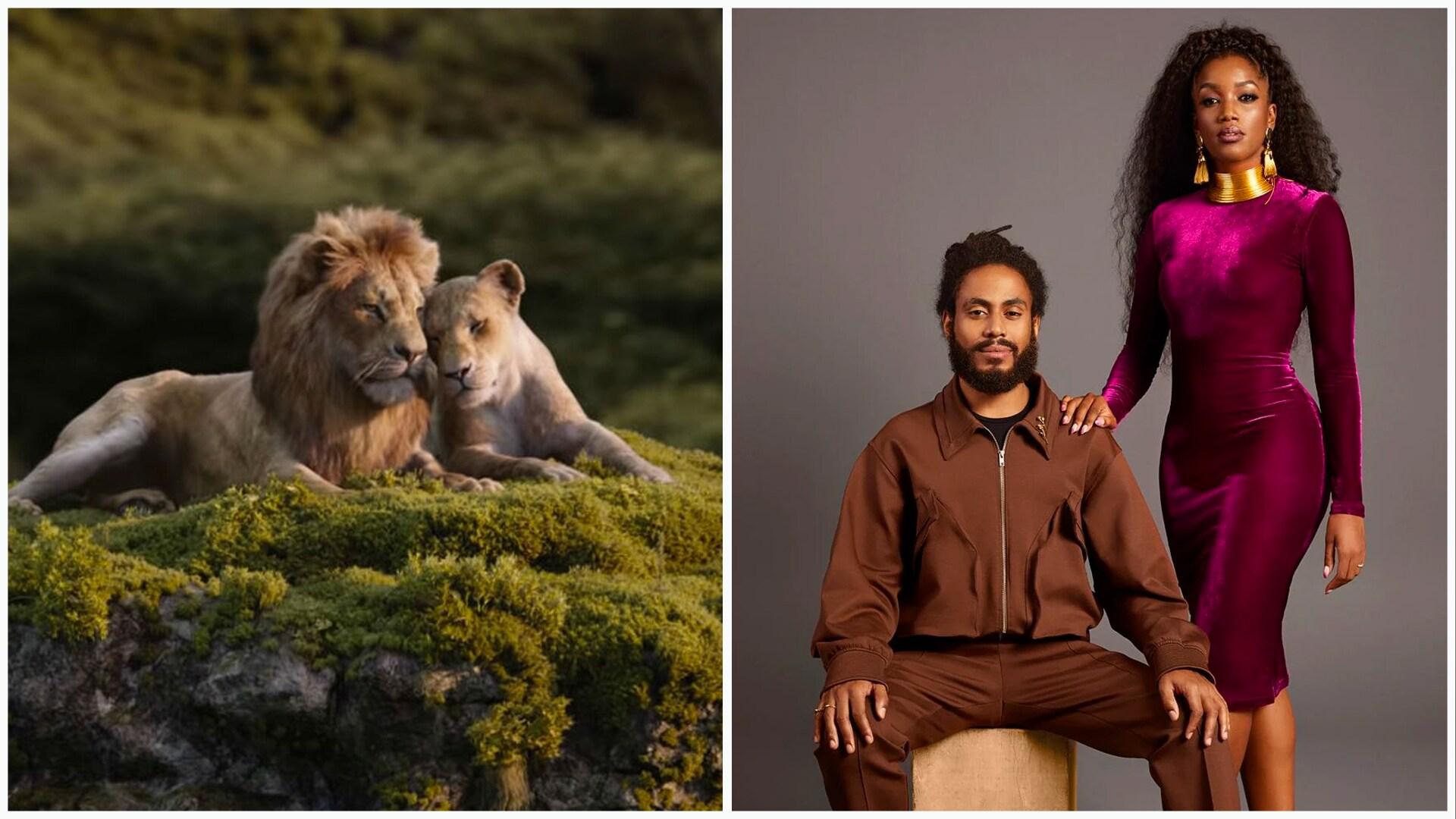 Ícaro Silva e Iza em O Rei Leão