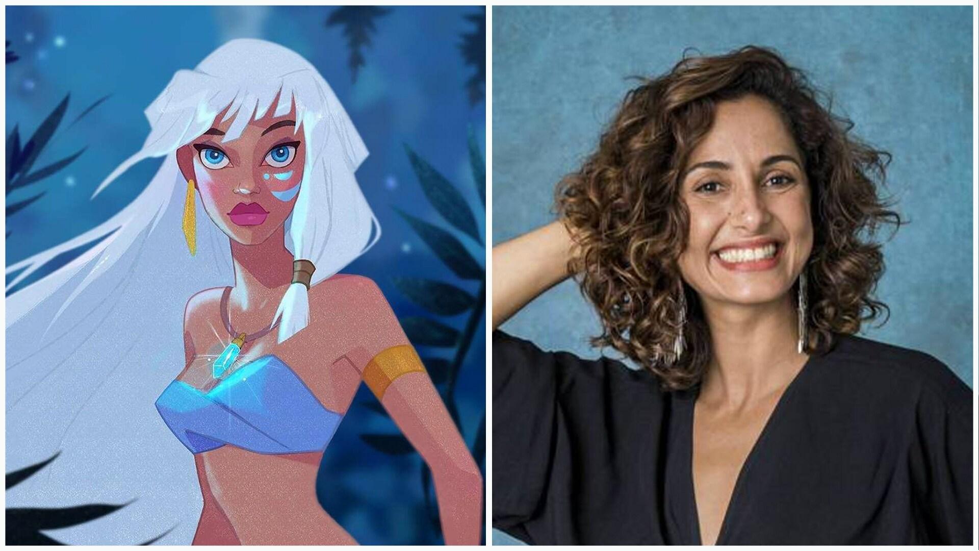 Camila Pitanga como Kida em Atlântis: O Reino Perdido