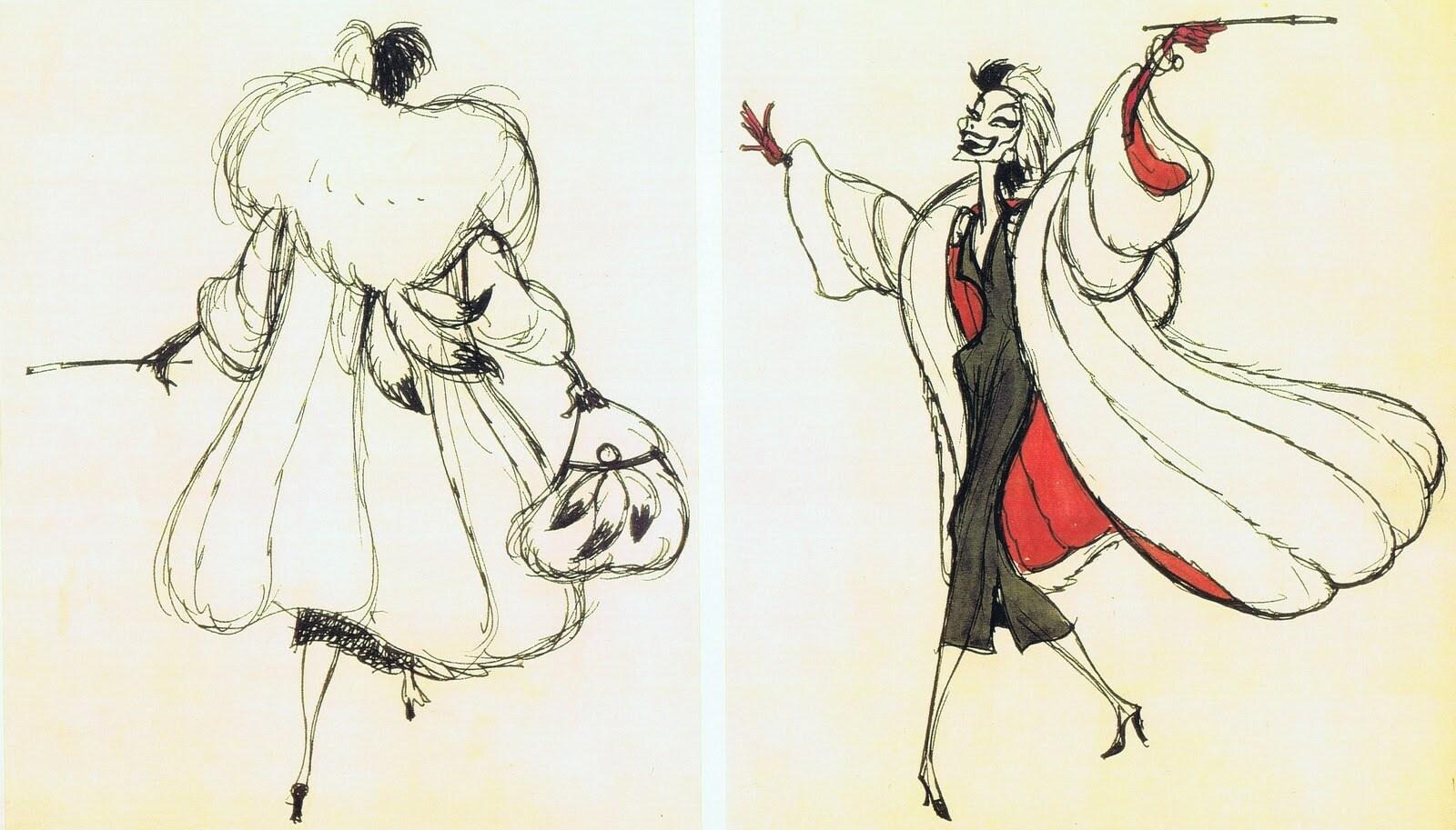 Marc Davis criou o visual de Cruella De Vil