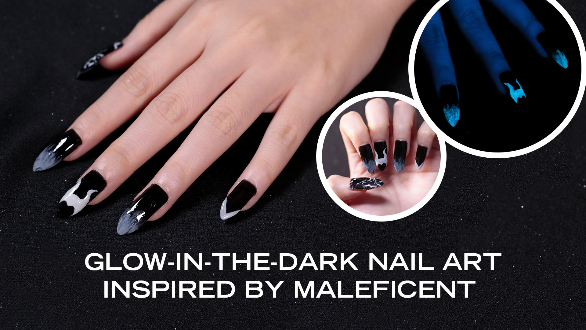 Glow-In-The-Dark Nail Art Inspired By Maleficent | Disney Style