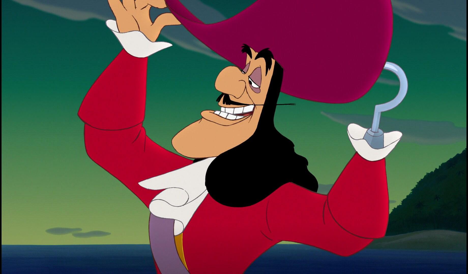 Capitão Gancho do filme As Aventuras de Peter Pan