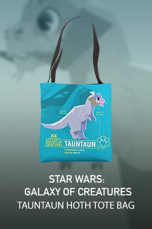 Star Wars Galaxy of Creatures Tauntaun for Hoth Tote Bag