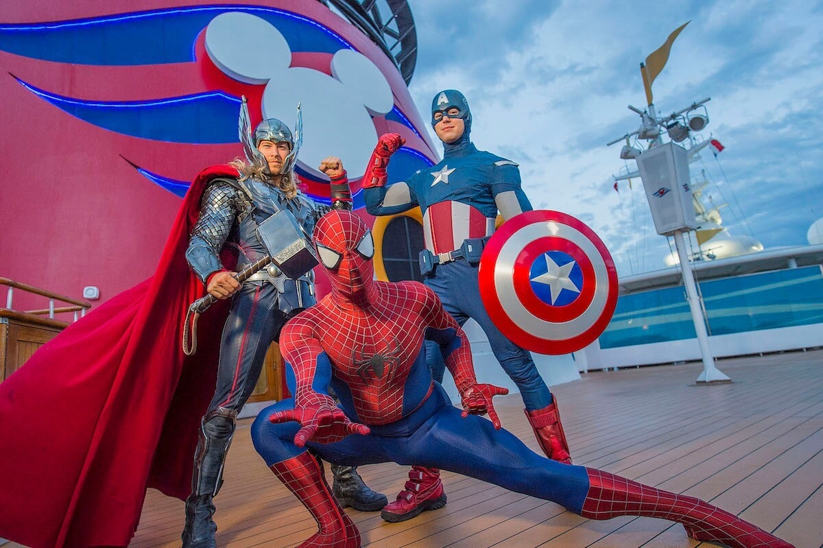 Thor, Spiderman, and Captain America