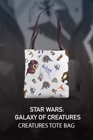 Star Wars Galaxy of Creatures Geometric Print Tote Bag