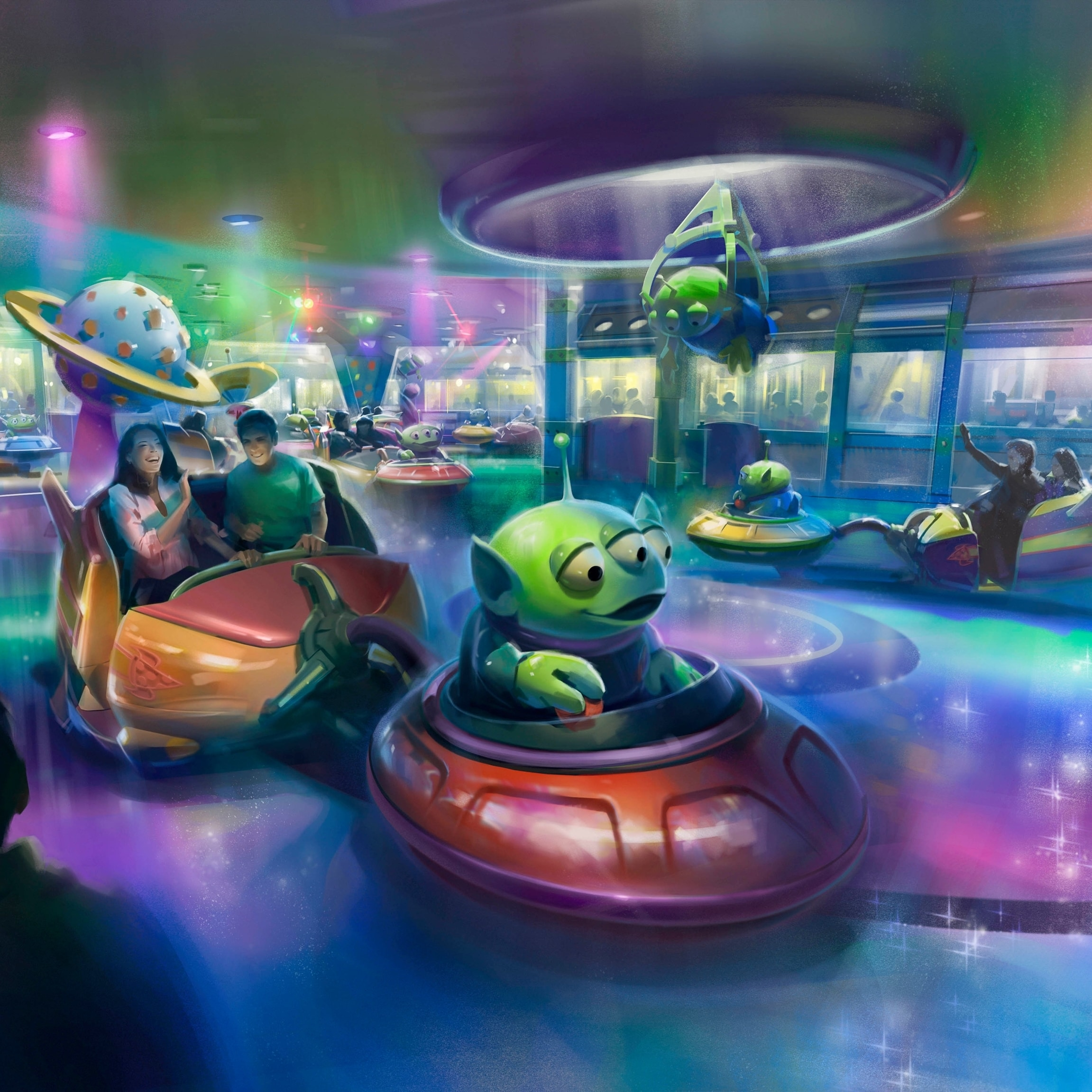 See a First Look at the Alien Swirling Saucers Coming to Toy Story Land at Walt Disney World