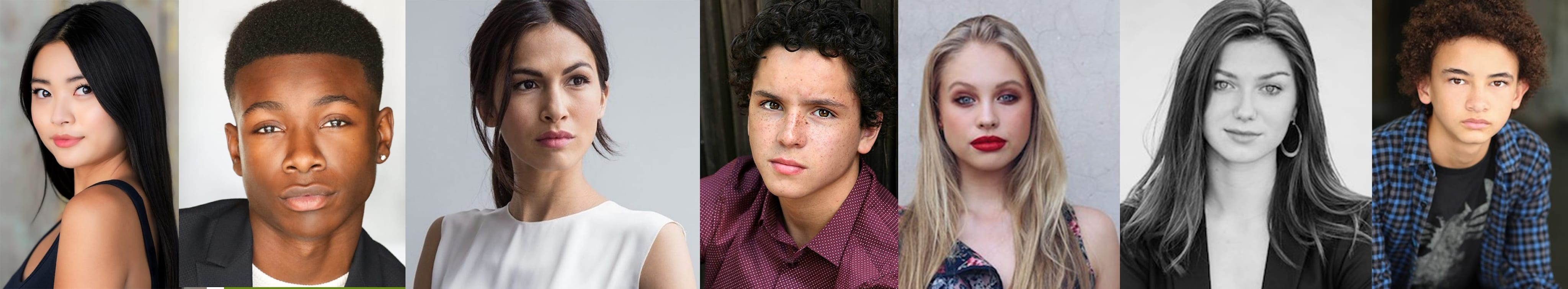 headshots of Secret Society of Second Born Royals cast