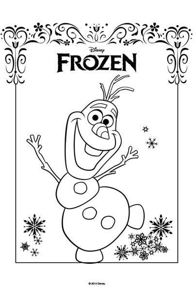 Kleurplaat Frozen Olaf En Sven Idee 235 N Over Kleurpagina S