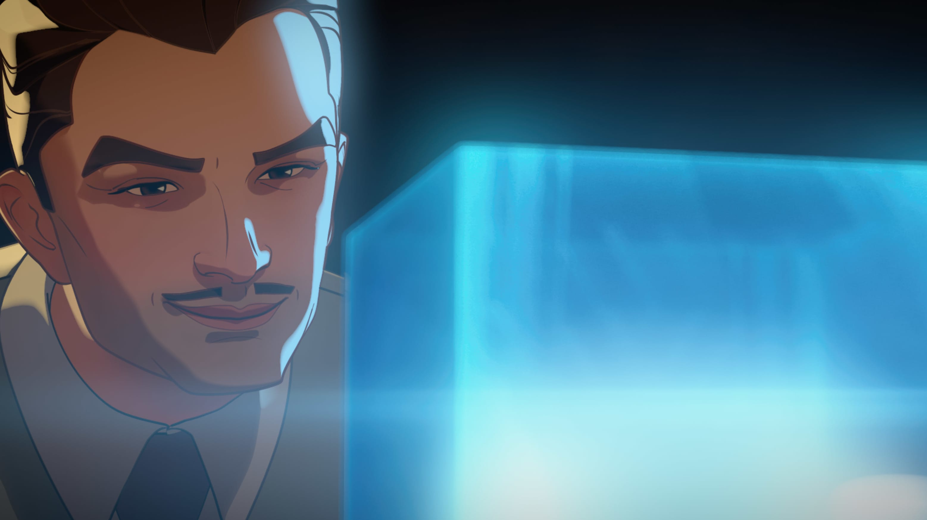 Howard Stark in Marvel Studios' WHAT IF…? exclusively on Disney+. ©Marvel Studios 2021. All Rights Reserved.