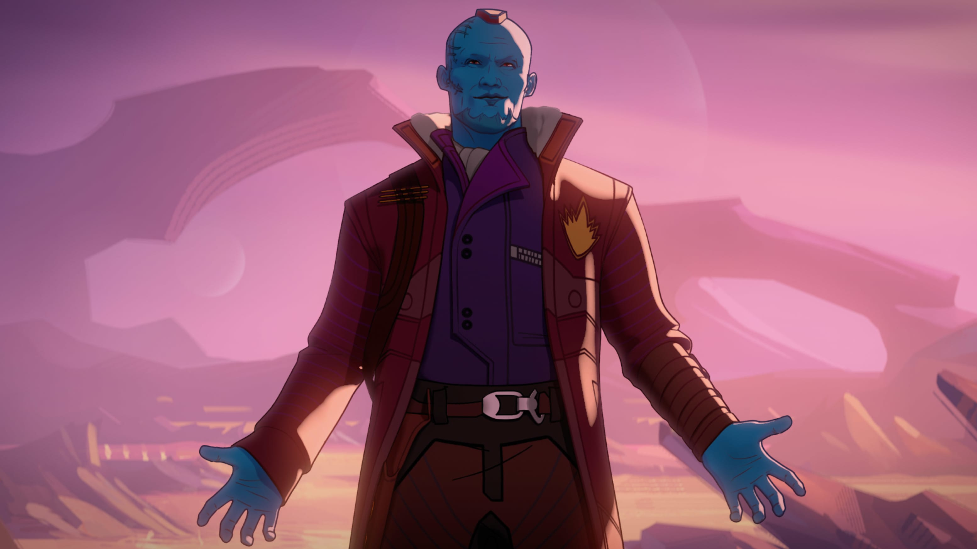 Yondu in Marvel Studios' WHAT IF…? exclusively on Disney+. ©Marvel Studios 2021. All Rights Reserved.