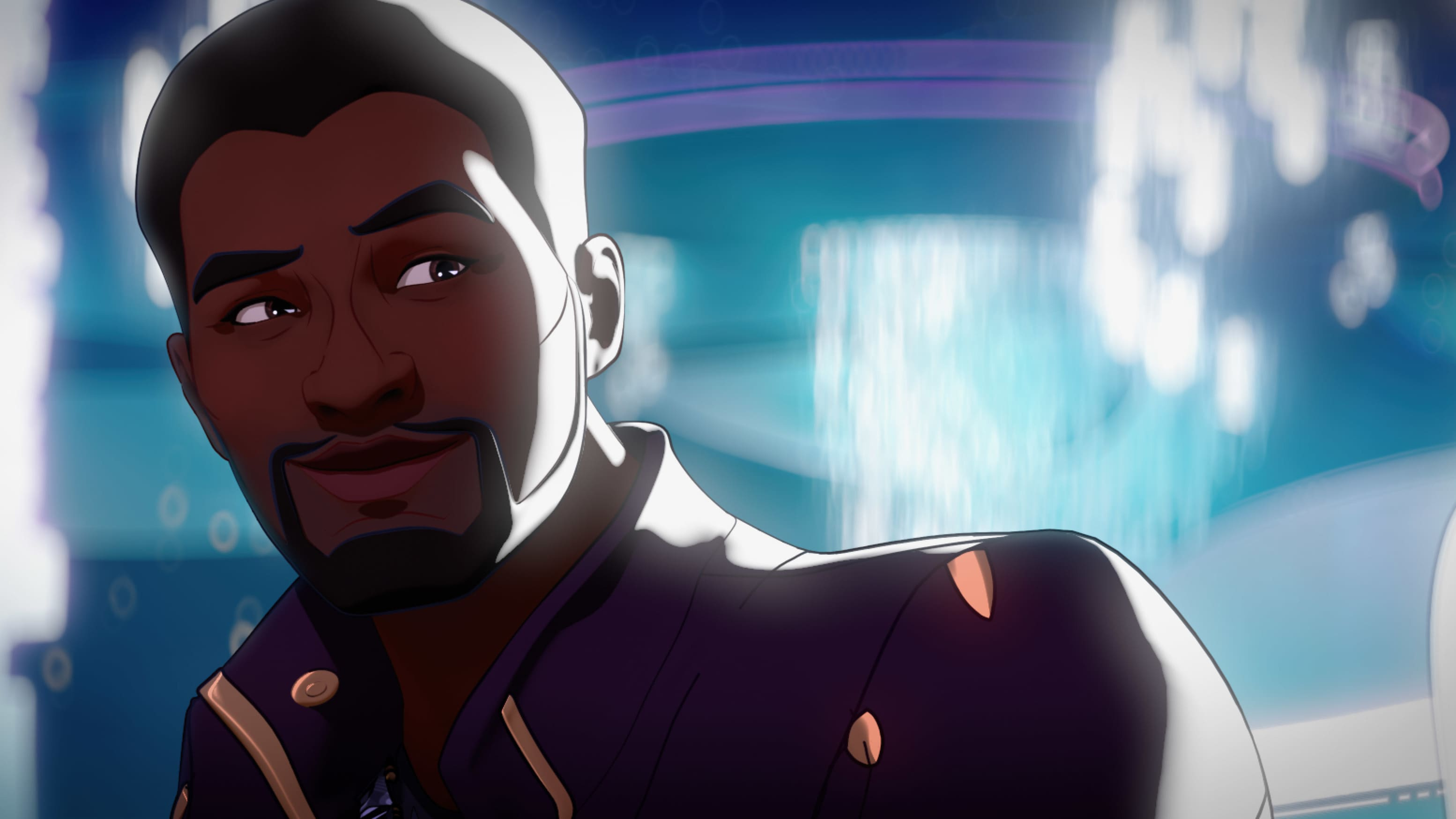 T'Challa/Star-Lord in Marvel Studios' WHAT IF…? exclusively on Disney+. ©Marvel Studios 2021. All Rights Reserved.