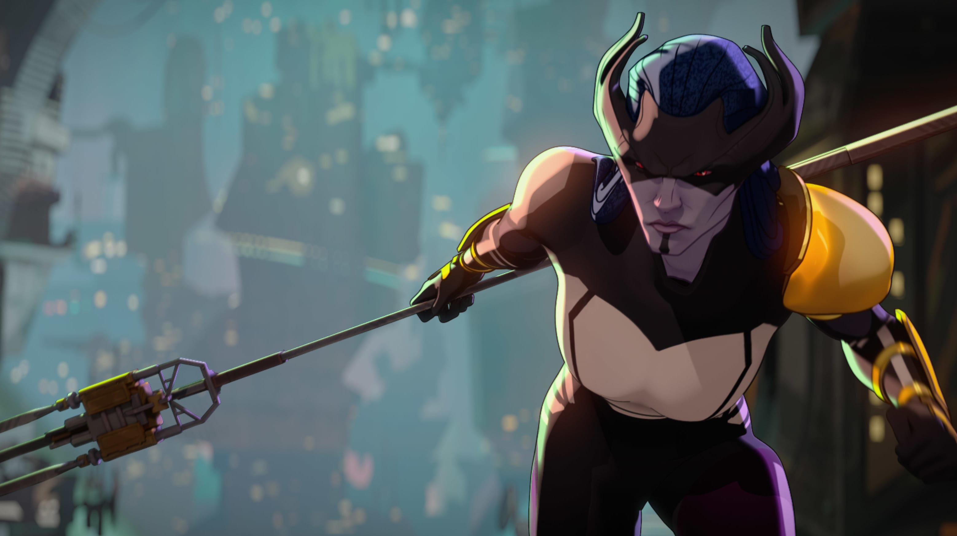 Proxima Midnight  in Marvel Studios' WHAT IF…? exclusively on Disney+. ©Marvel Studios 2021. All Rights Reserved.