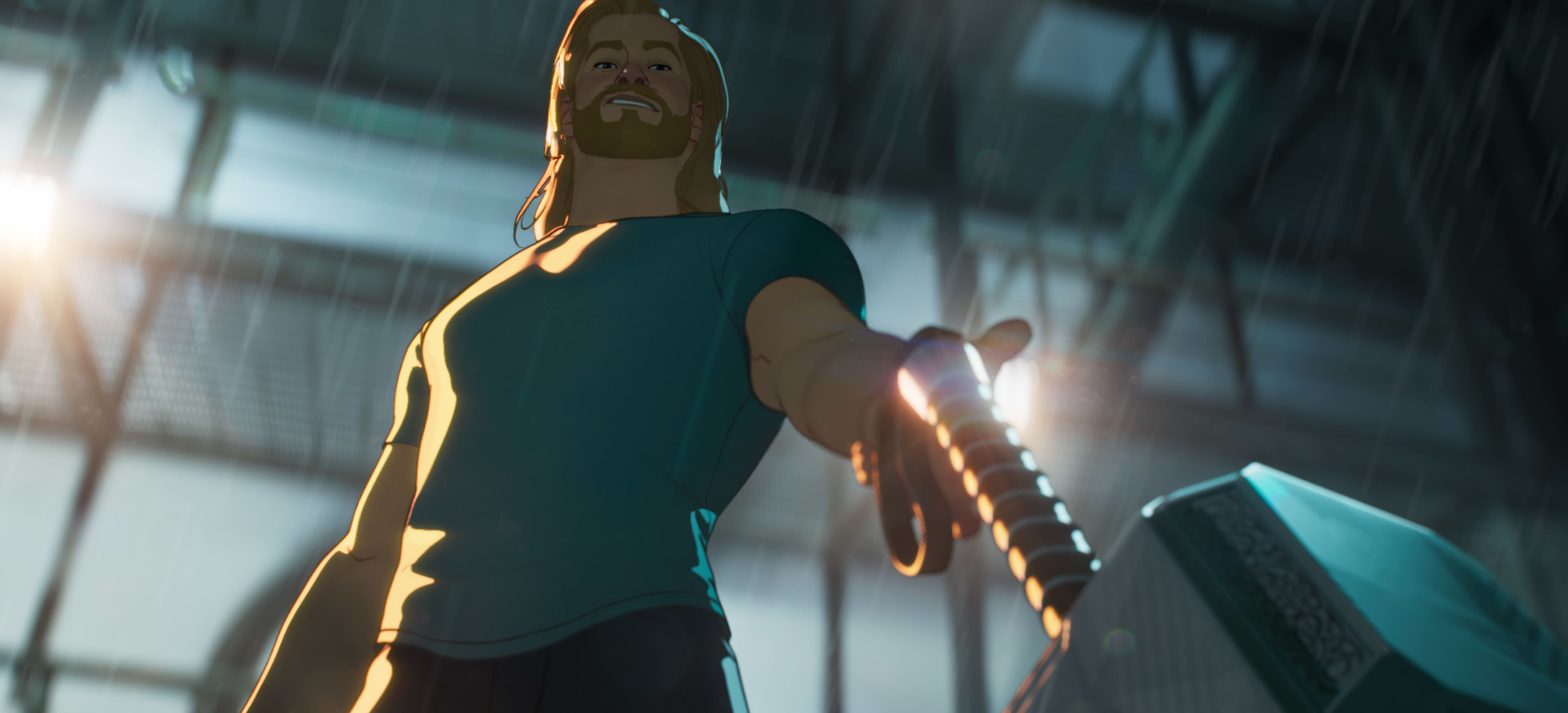 Thor in Marvel Studios' WHAT IF…? exclusively on Disney+. ©Marvel Studios 2021. All Rights Reserved.