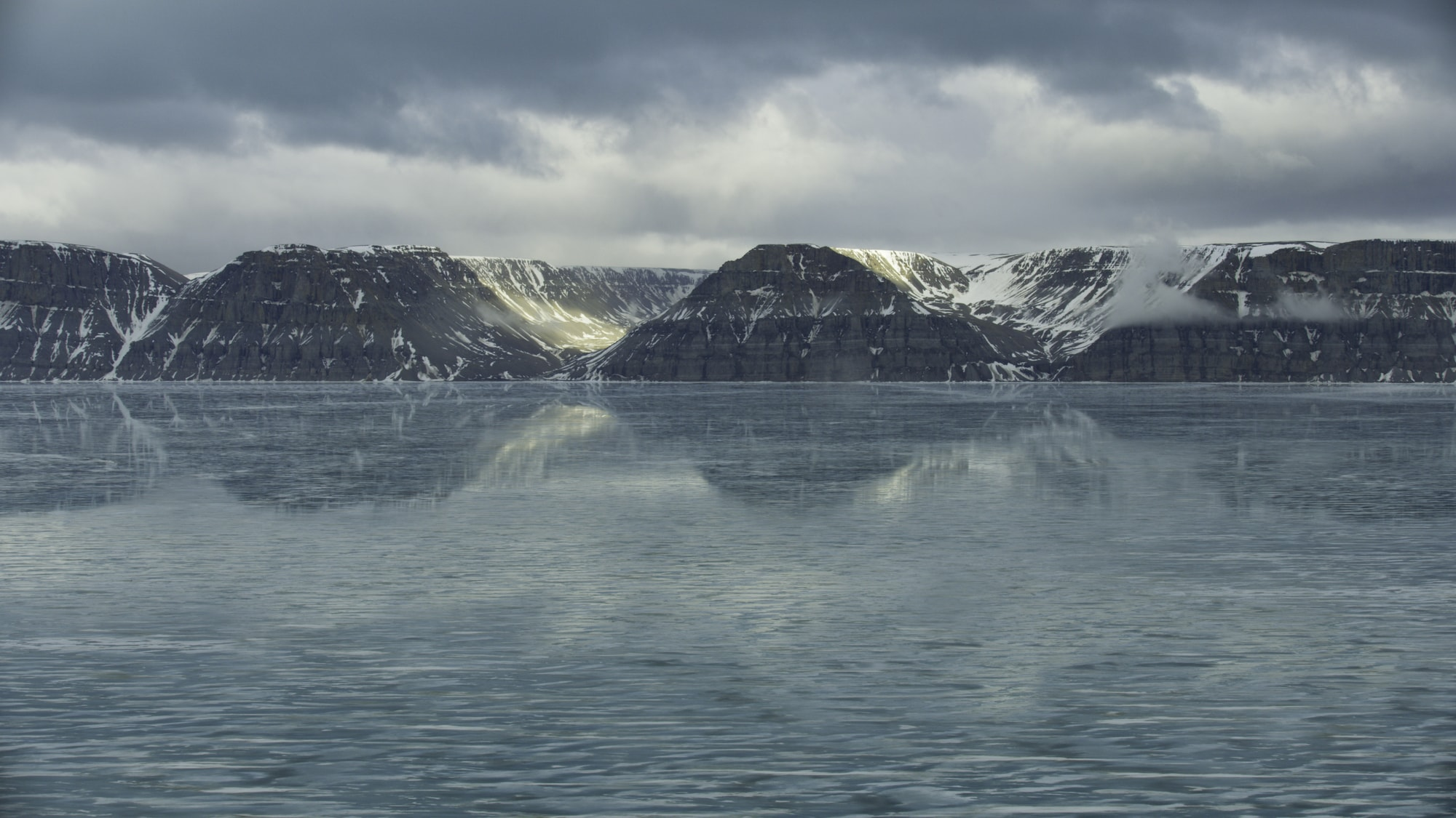 The inlets along the islands of the Canadian Arctic are important summering grounds for belugas and narwhals. Some travel almost a thousand miles from the west coast of Greenland to reach here. (National Geographic for Disney+/Thomas Miller)