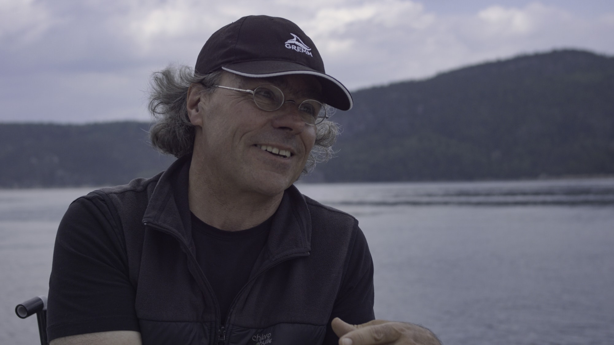 Biologist Robert Michaud has devoted his career to studying the beluga whales of Quebec's St. Lawrence River. (National Geographic for Disney+/Ben Hamilton)