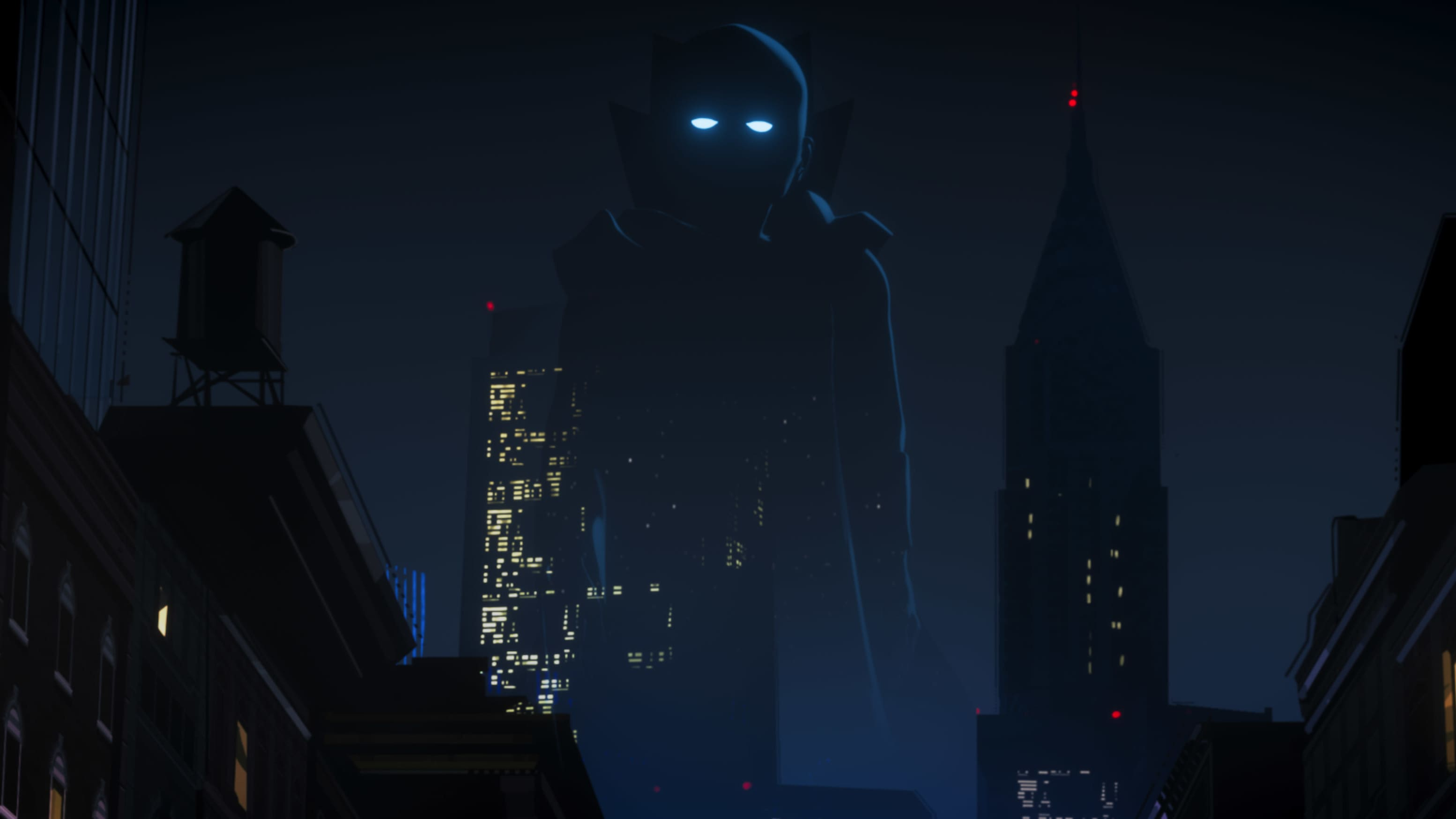 The Watcher (voiced byJeffrey Wright) in Marvel Studios' WHAT IF…? exclusively on Disney+. ©Marvel Studios 2021. All Rights Reserved.