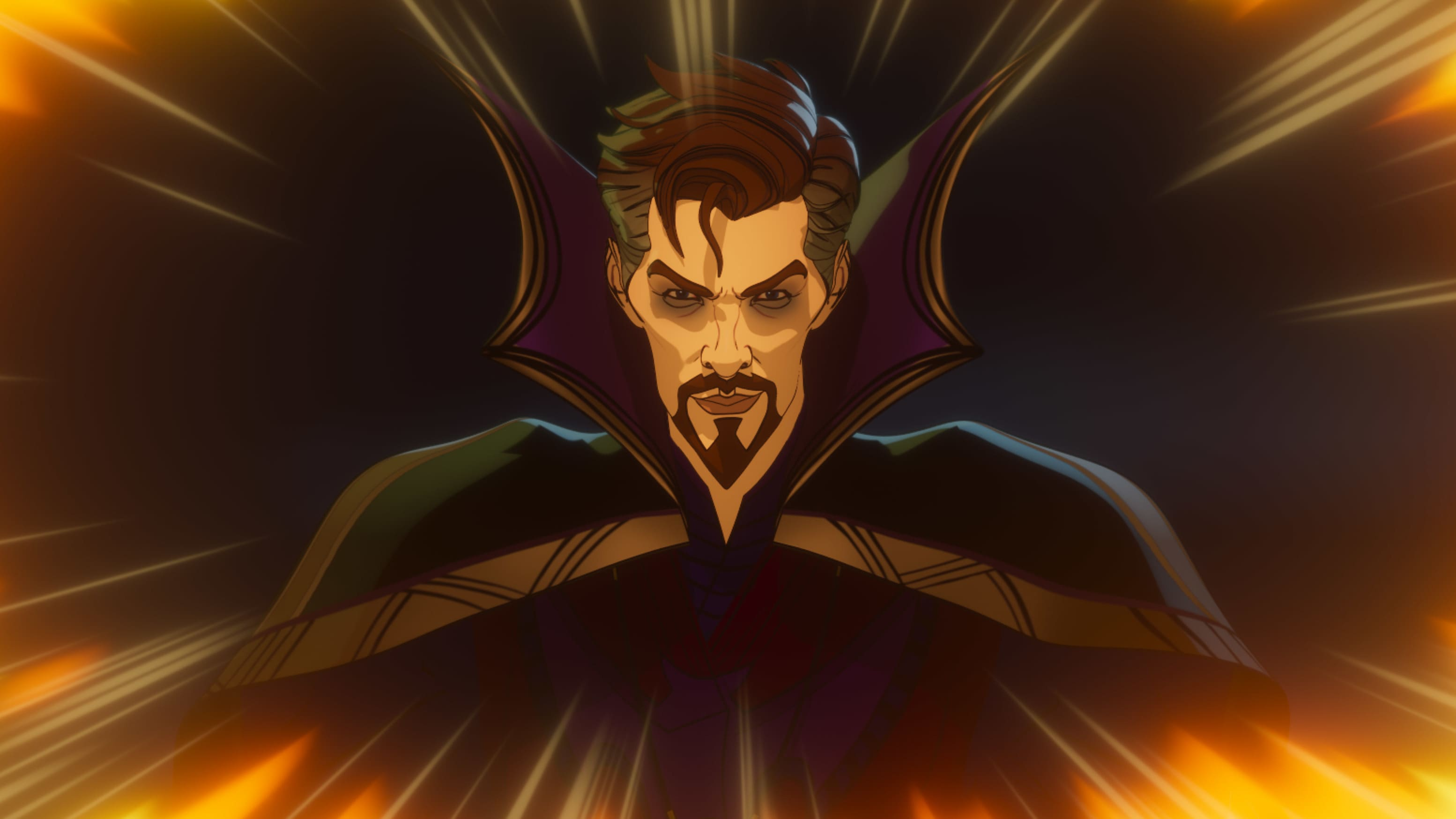 Doctor Strange Supreme in Marvel Studios' WHAT IF…? exclusively on Disney+. ©Marvel Studios 2021. All Rights Reserved.