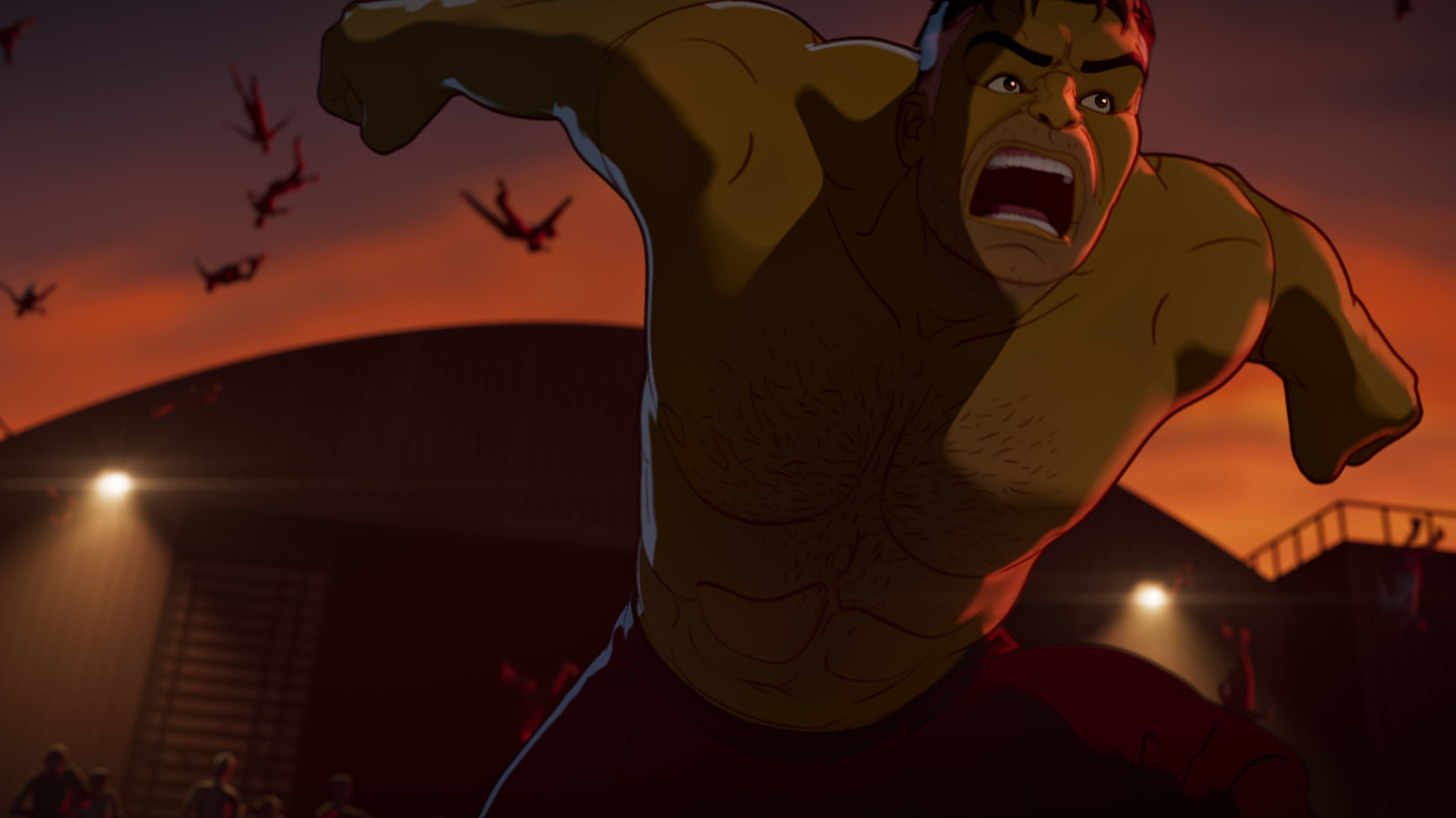 Hulk/Bruce Banner in Marvel Studios' WHAT IF…? exclusively on Disney+. ©Marvel Studios 2021. All Rights Reserved.