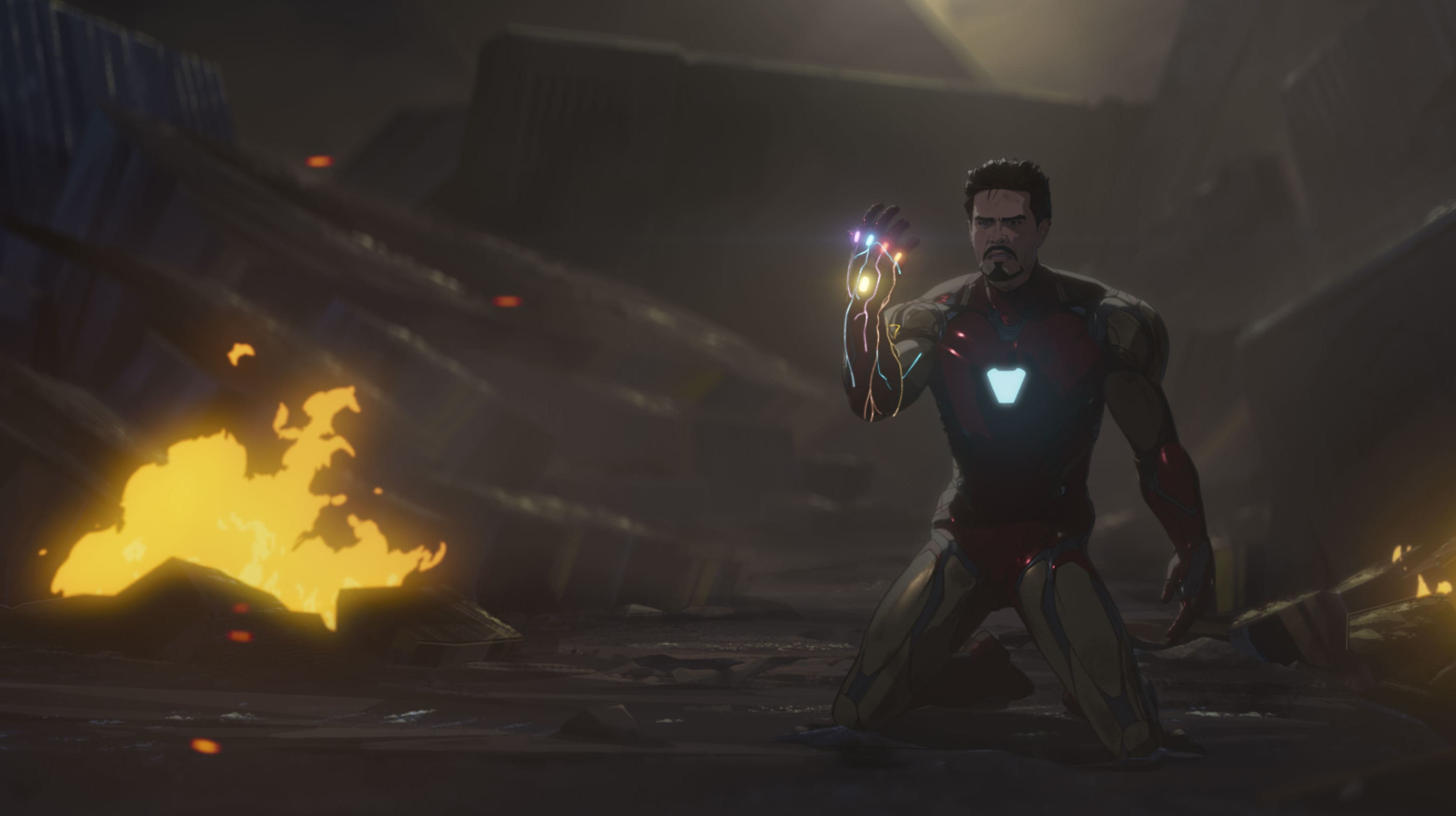 Ironman/Tony Stark in Marvel Studios' WHAT IF…? exclusively on Disney+. ©Marvel Studios 2021. All Rights Reserved.
