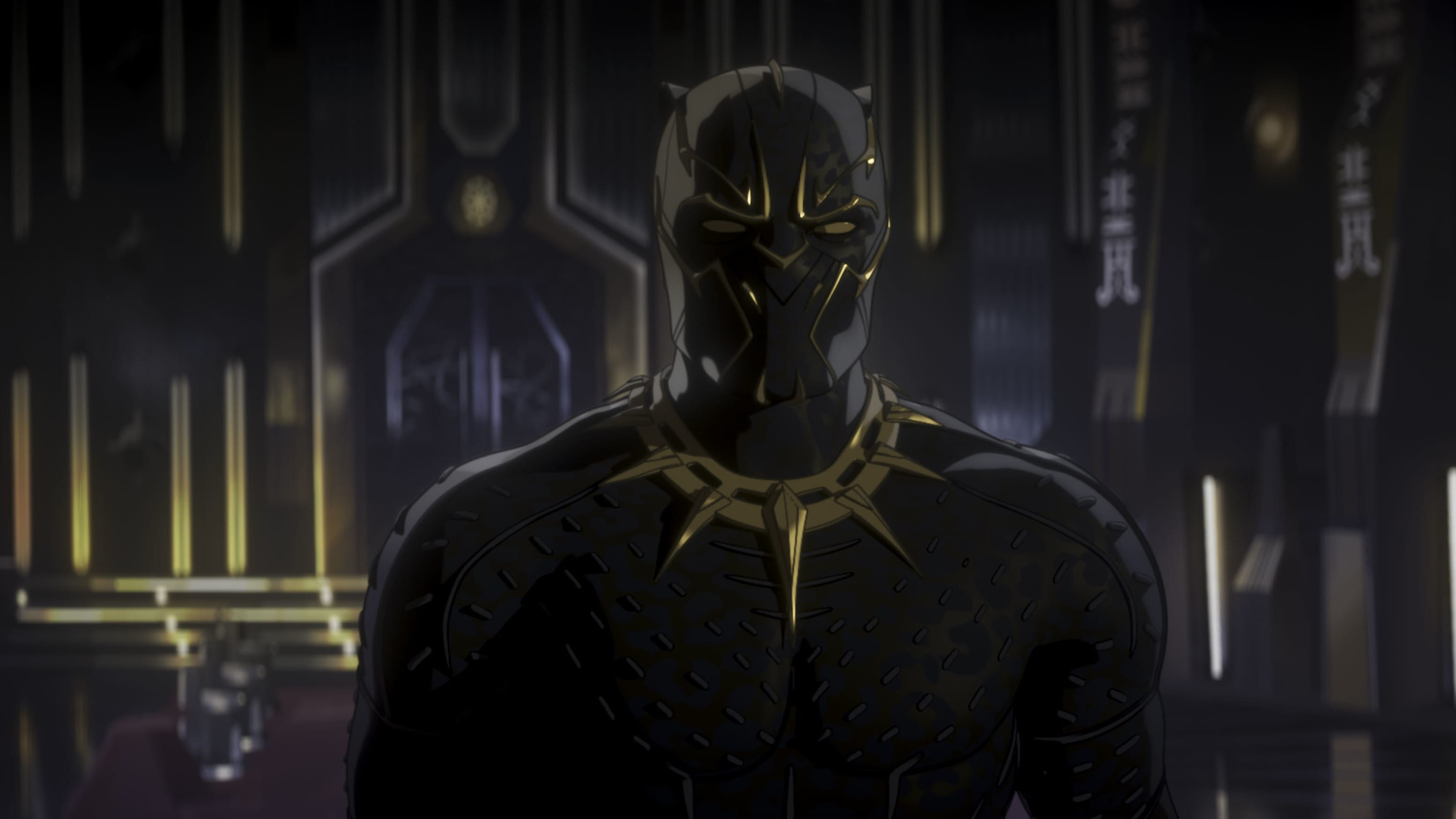 Black Panther in Marvel Studios' WHAT IF…? exclusively on Disney+. ©Marvel Studios 2021. All Rights Reserved.