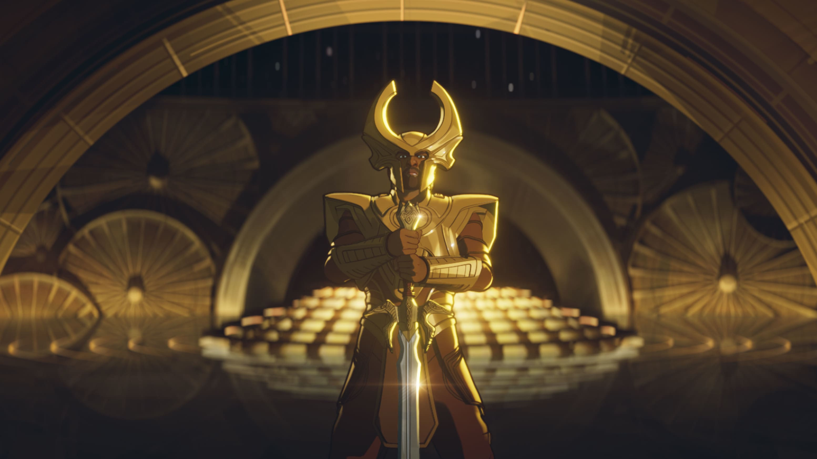 Heimdall in Marvel Studios' WHAT IF…? exclusively on Disney+. ©Marvel Studios 2021. All Rights Reserved.