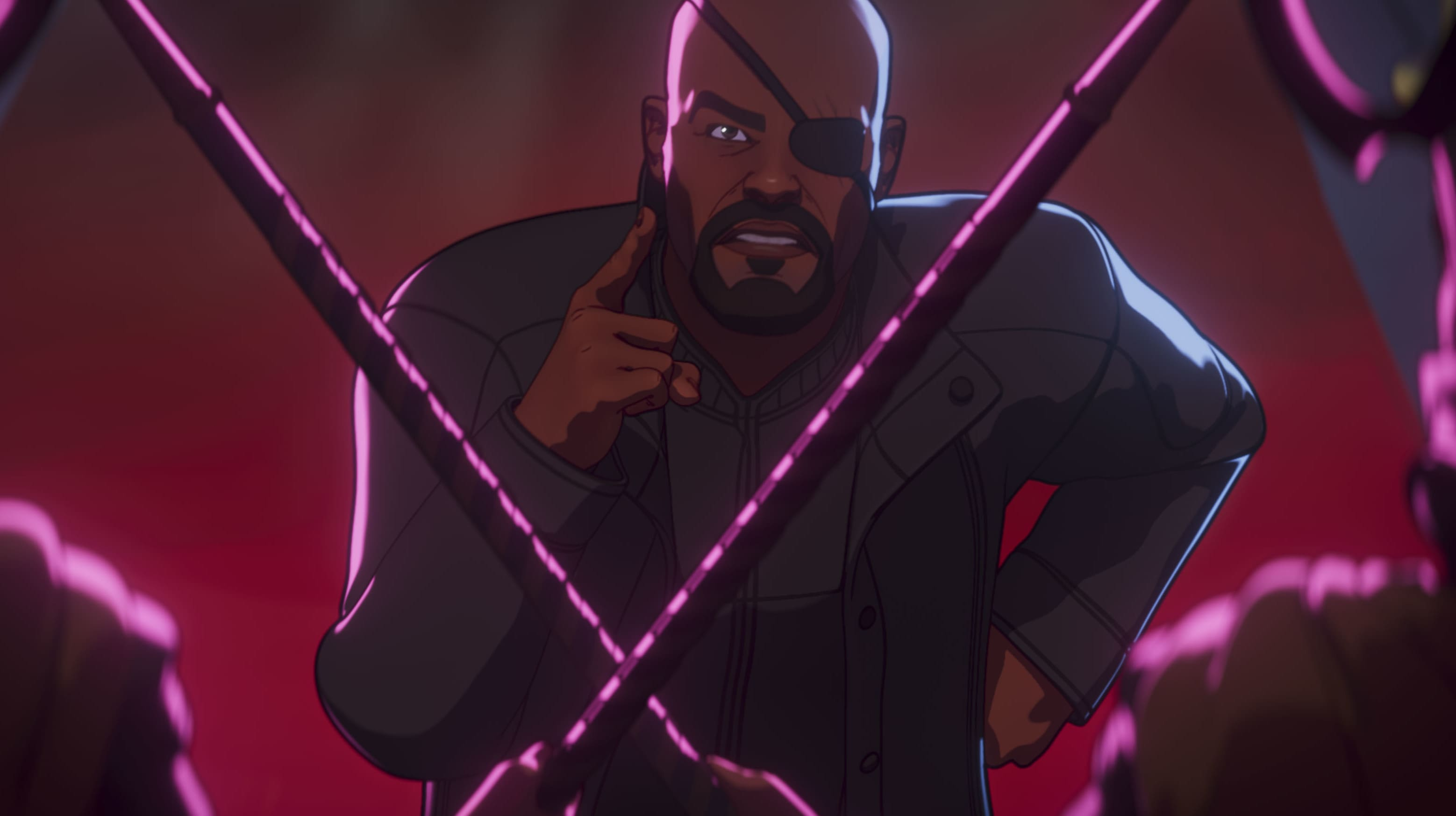 Nick Fury in Marvel Studios' WHAT IF…? exclusively on Disney+. ©Marvel Studios 2021. All Rights Reserved.