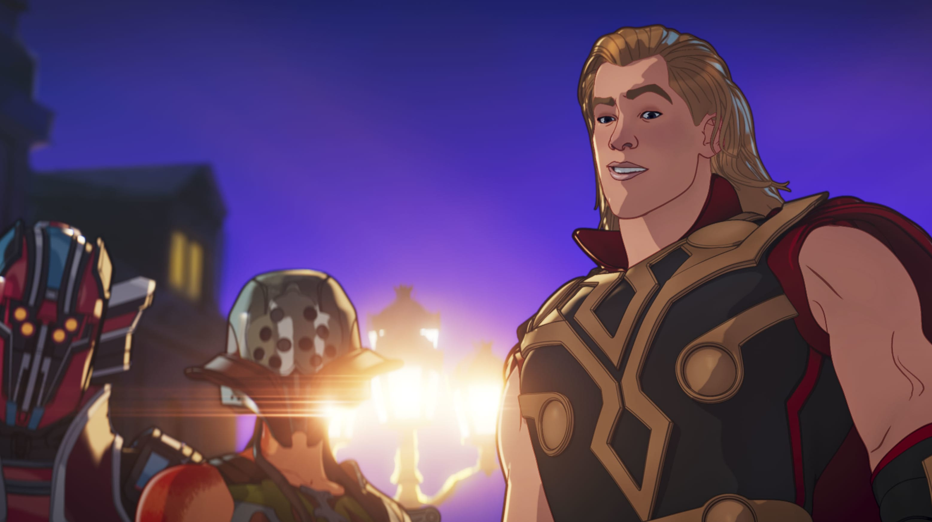 Party Thor in Marvel Studios' WHAT IF…? exclusively on Disney+. ©Marvel Studios 2021. All Rights Reserved.