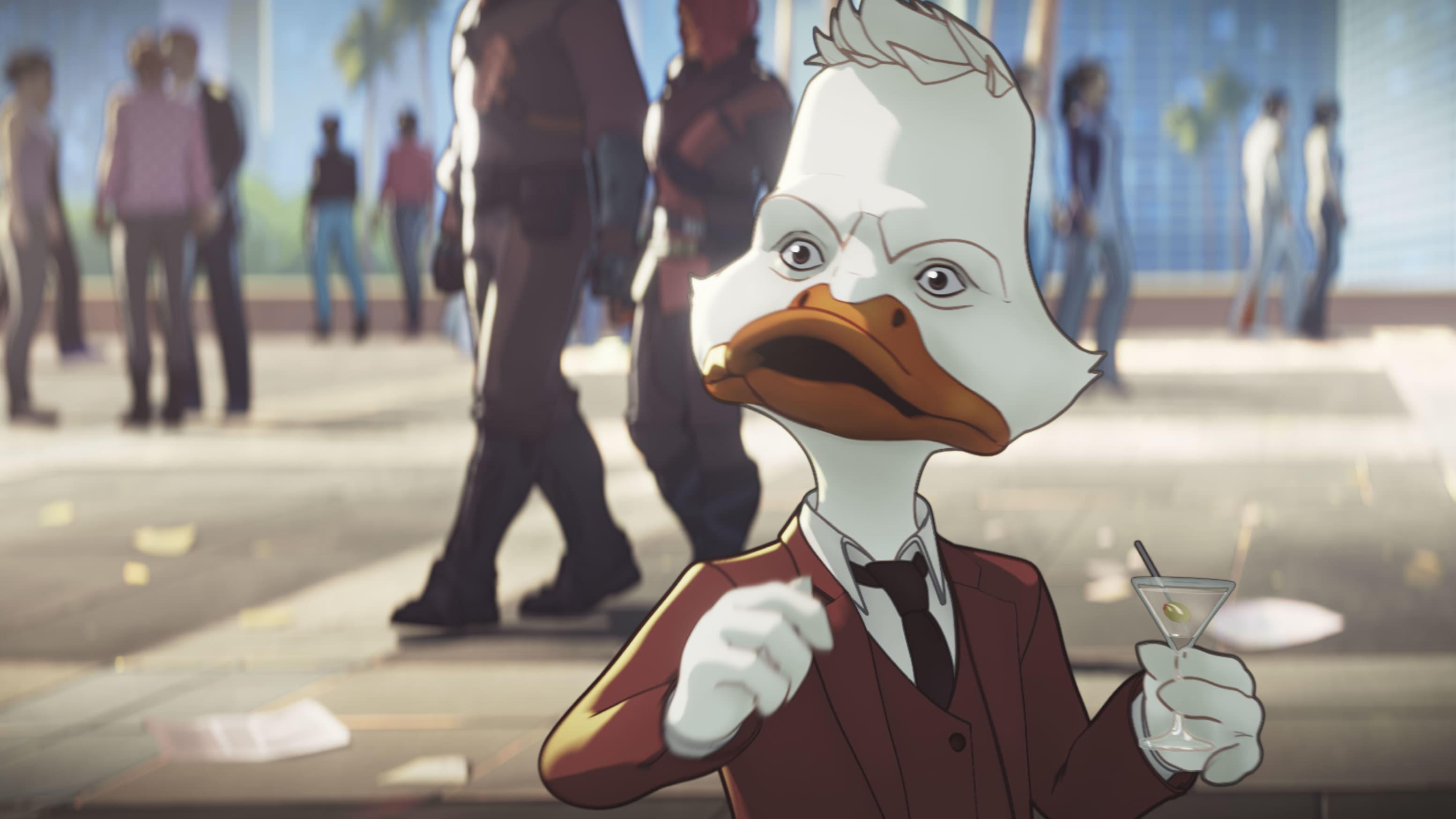 Howard the Duck in Marvel Studios' WHAT IF…? exclusively on Disney+. ©Marvel Studios 2021. All Rights Reserved.