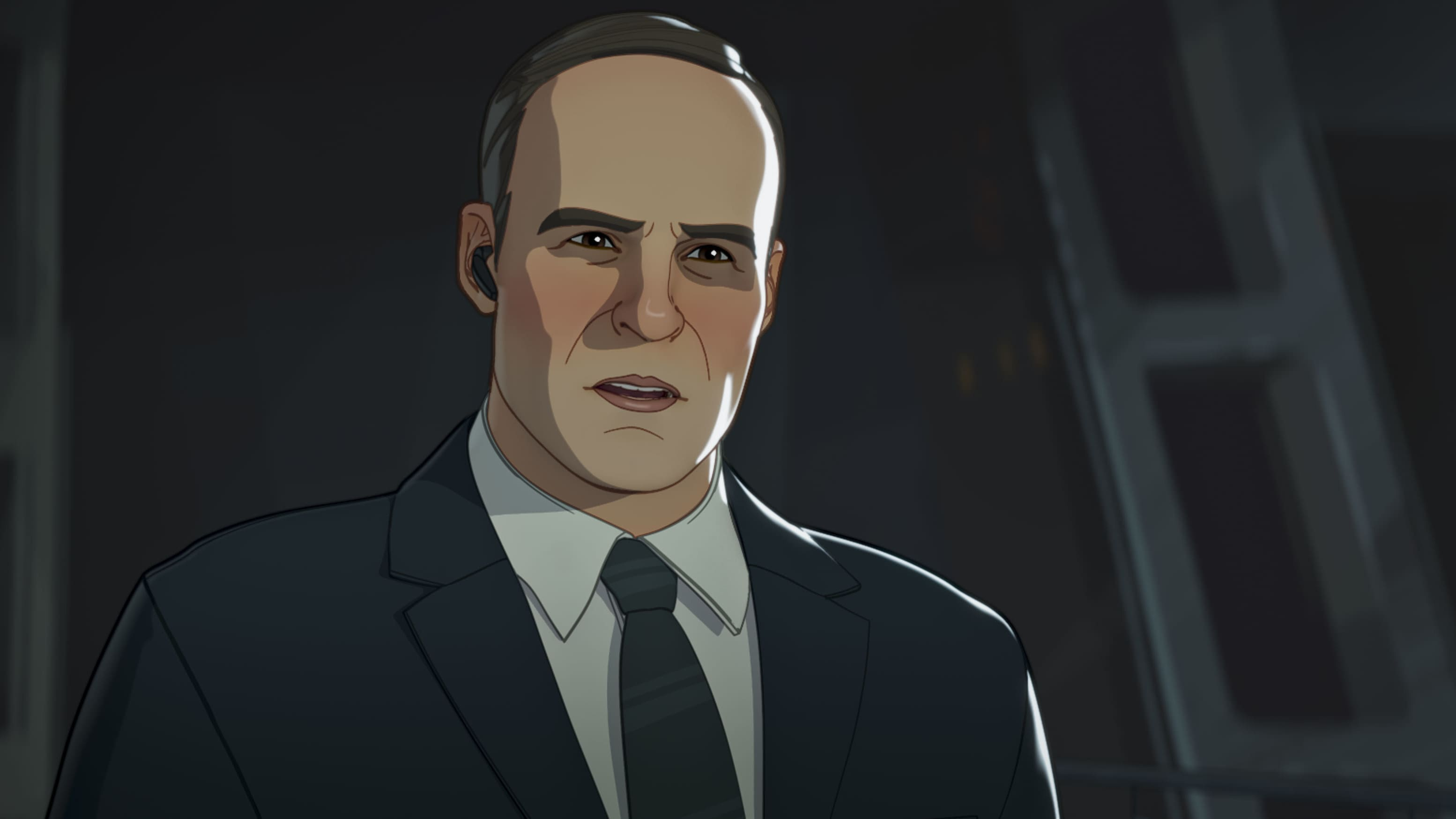 Agent Coulson in Marvel Studios' WHAT IF…? exclusively on Disney+. ©Marvel Studios 2021. All Rights Reserved.