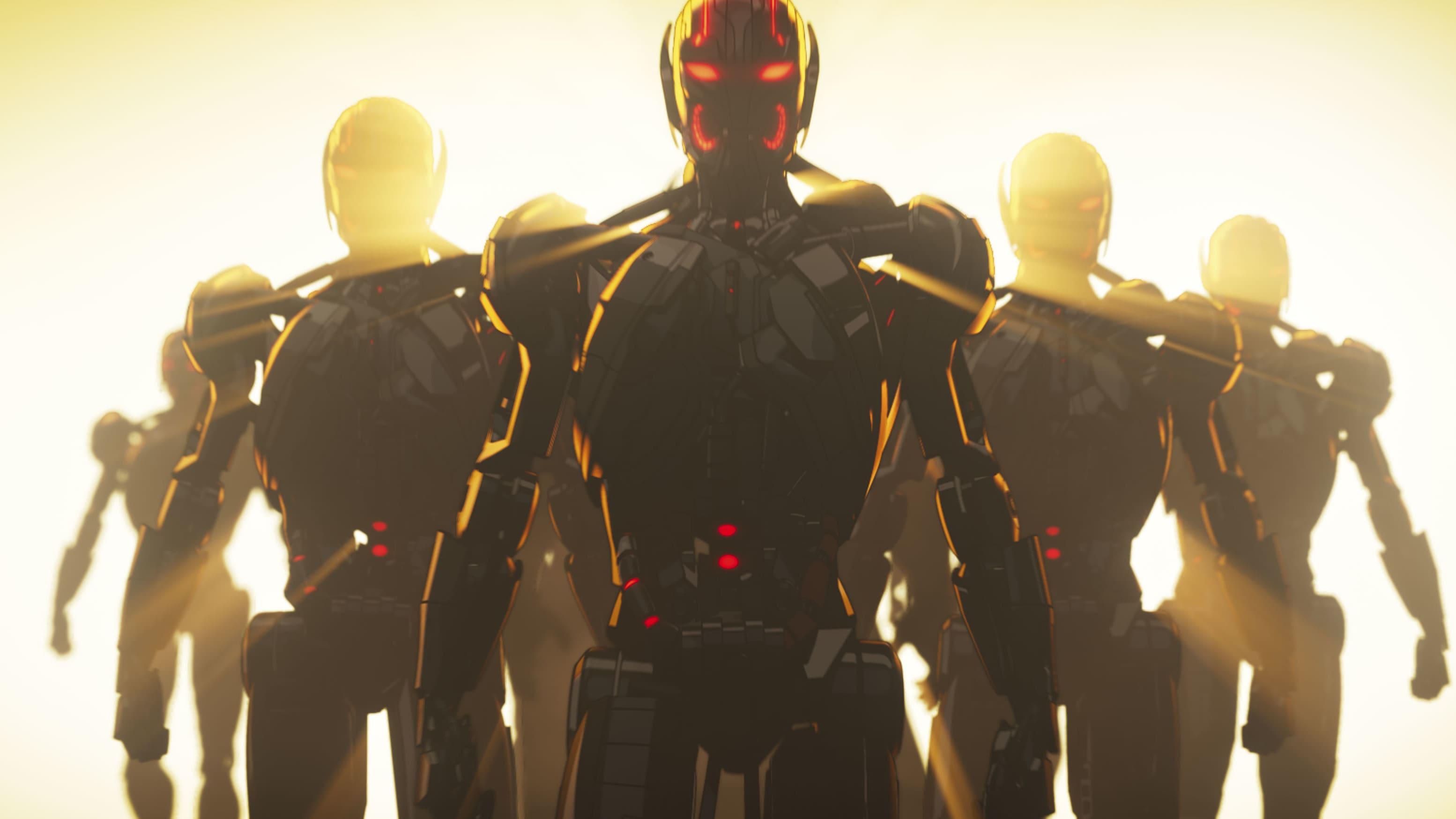 Ultrons in Marvel Studios' WHAT IF…? exclusively on Disney+. ©Marvel Studios 2021. All Rights Reserved.