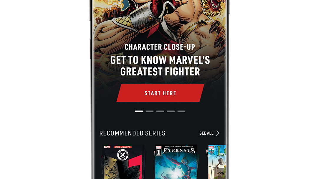 Character Close-up Get to know Marvel's Greatest Fighter App Screen Image
