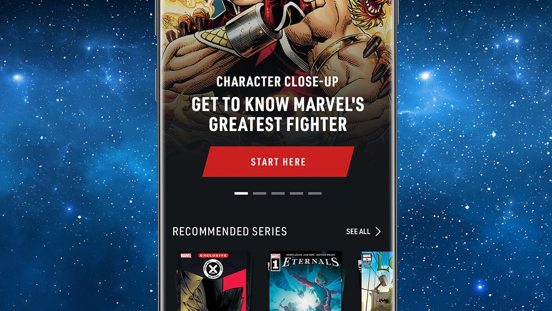 Shang-Chi App Screen Image on Space background