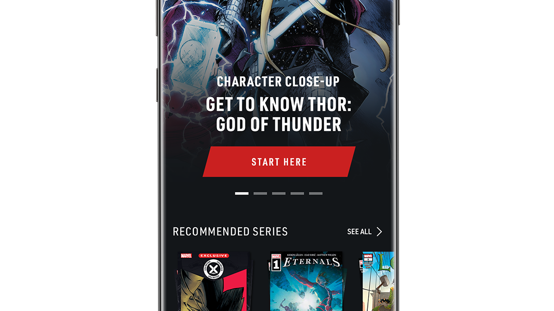 Character Close-Up Get to know Thor: God of Thunder App Screen Image