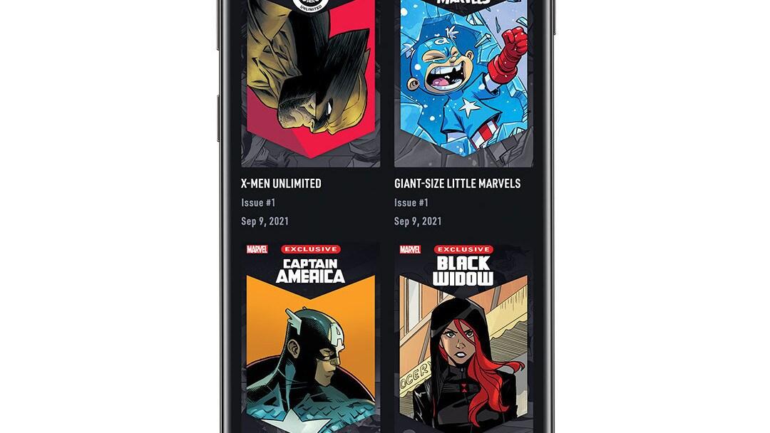 Infinity Comics App Screen Image on White Background