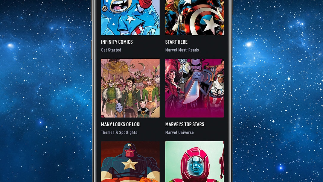 Reading Guides for You Space App Screen Image on Space Background