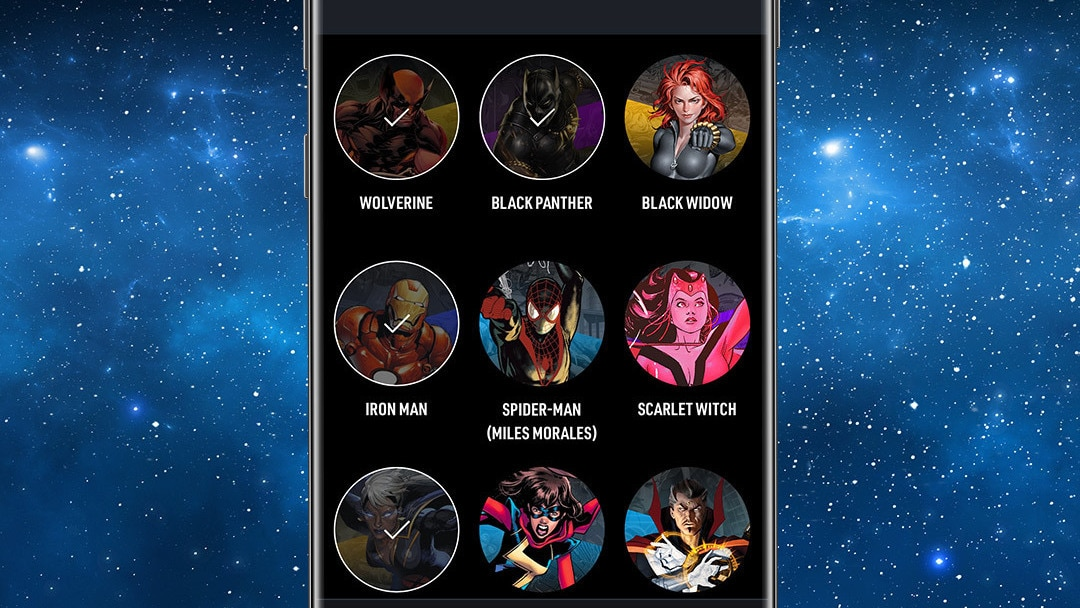 Your Team App Screen Image on Space Background