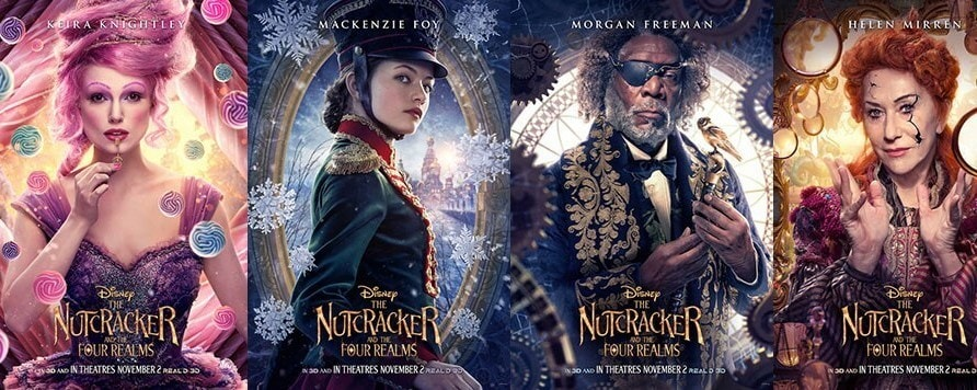 Character Posters From The Nutcracker and the Four Realms