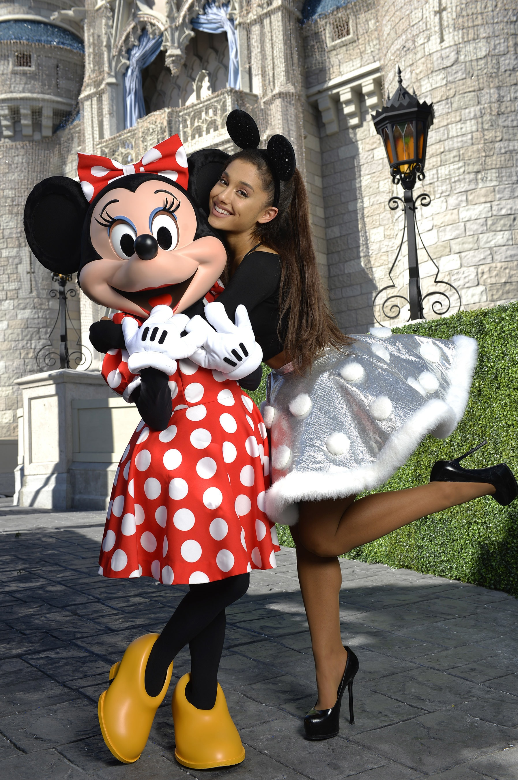 12, 2015 with Minnie Mouse during a break from taping