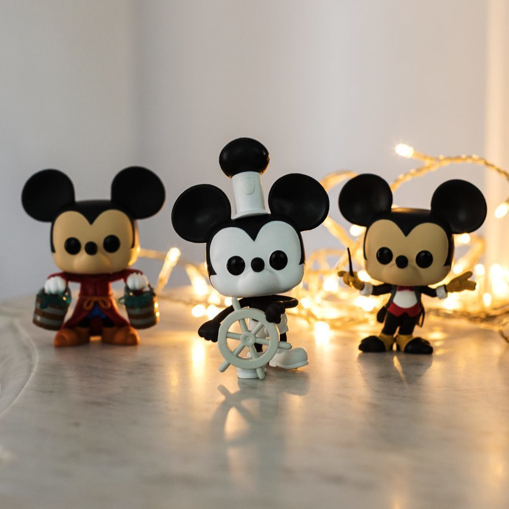 Mickey Mouse l Figurines Funko Pop Mickey 90 ans