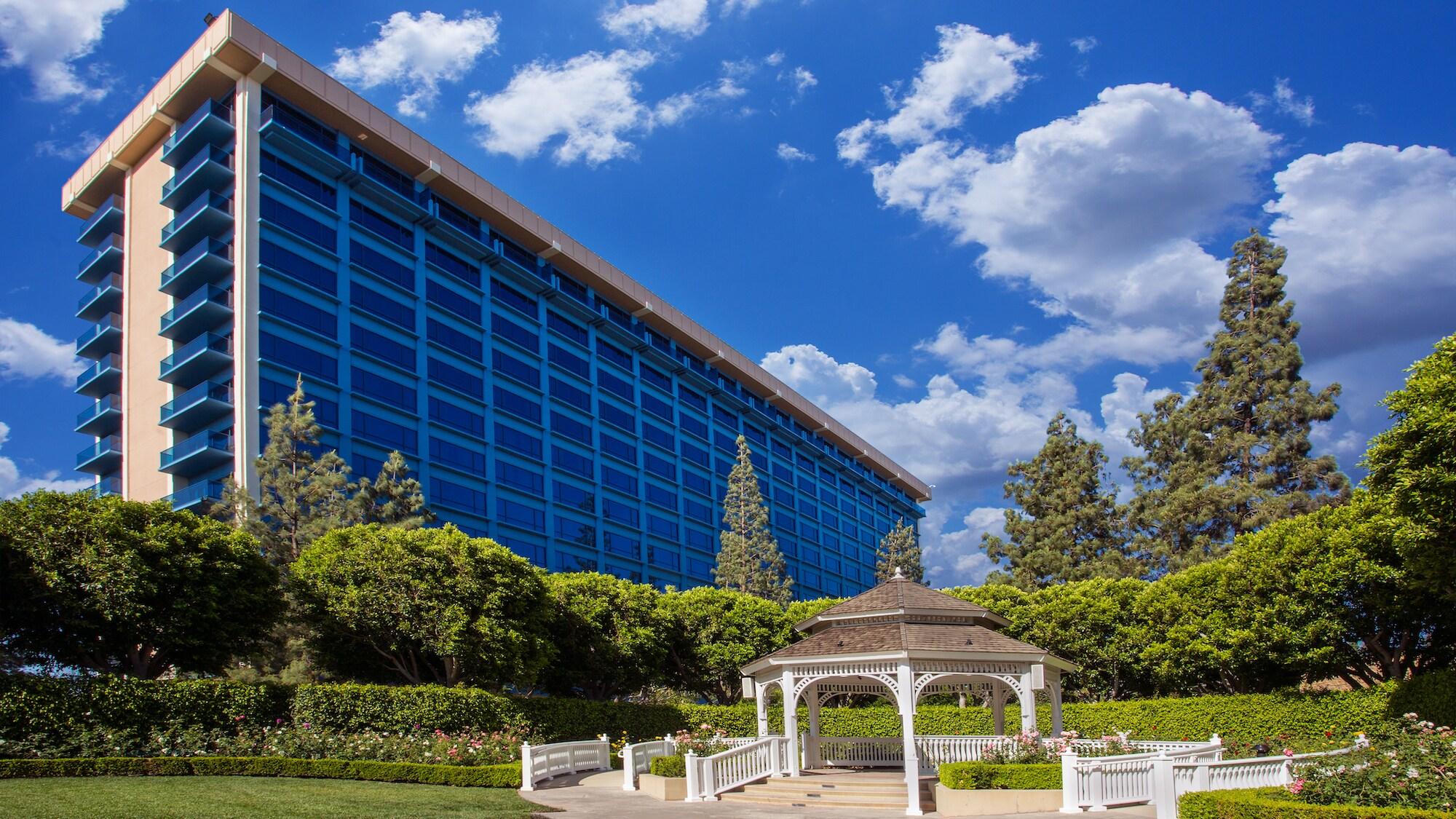 Exterior view of the Disneyland Hotel.