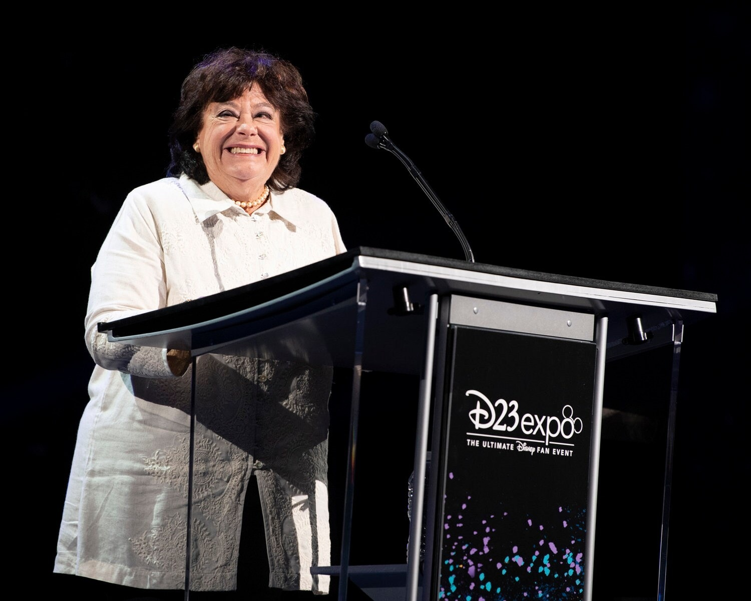 Barnette Ricci at Disney Legends Awards Podium