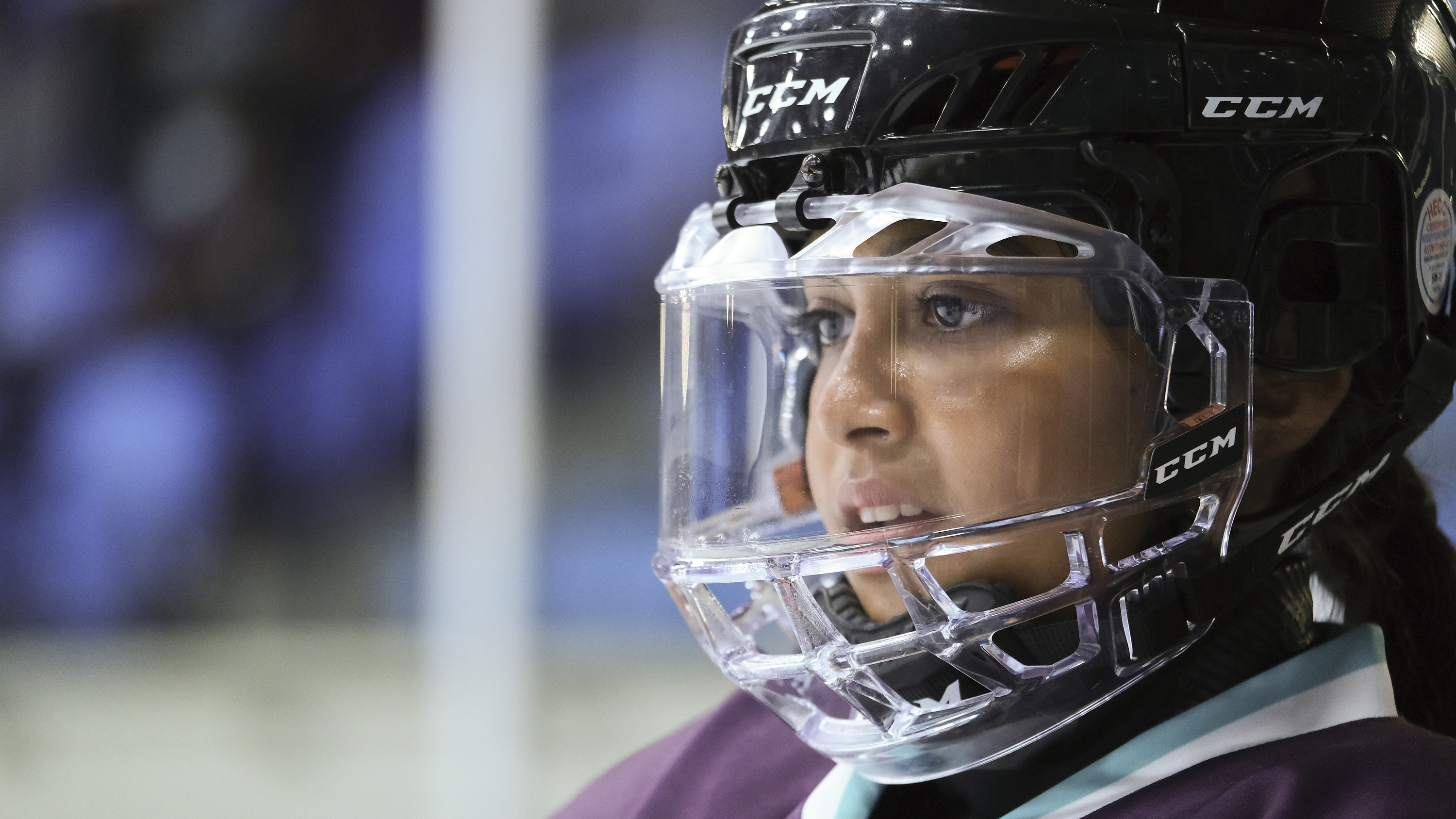 "THE MIGHTY DUCKS: GAME CHANGERS - ""Breakaway"" - Alex tries to be a real coach, Evan recruits Sofi, and the team gets unexpected help...from Bombay. (Disney/Liane Hentscher) SWAYAM BHATIA"
