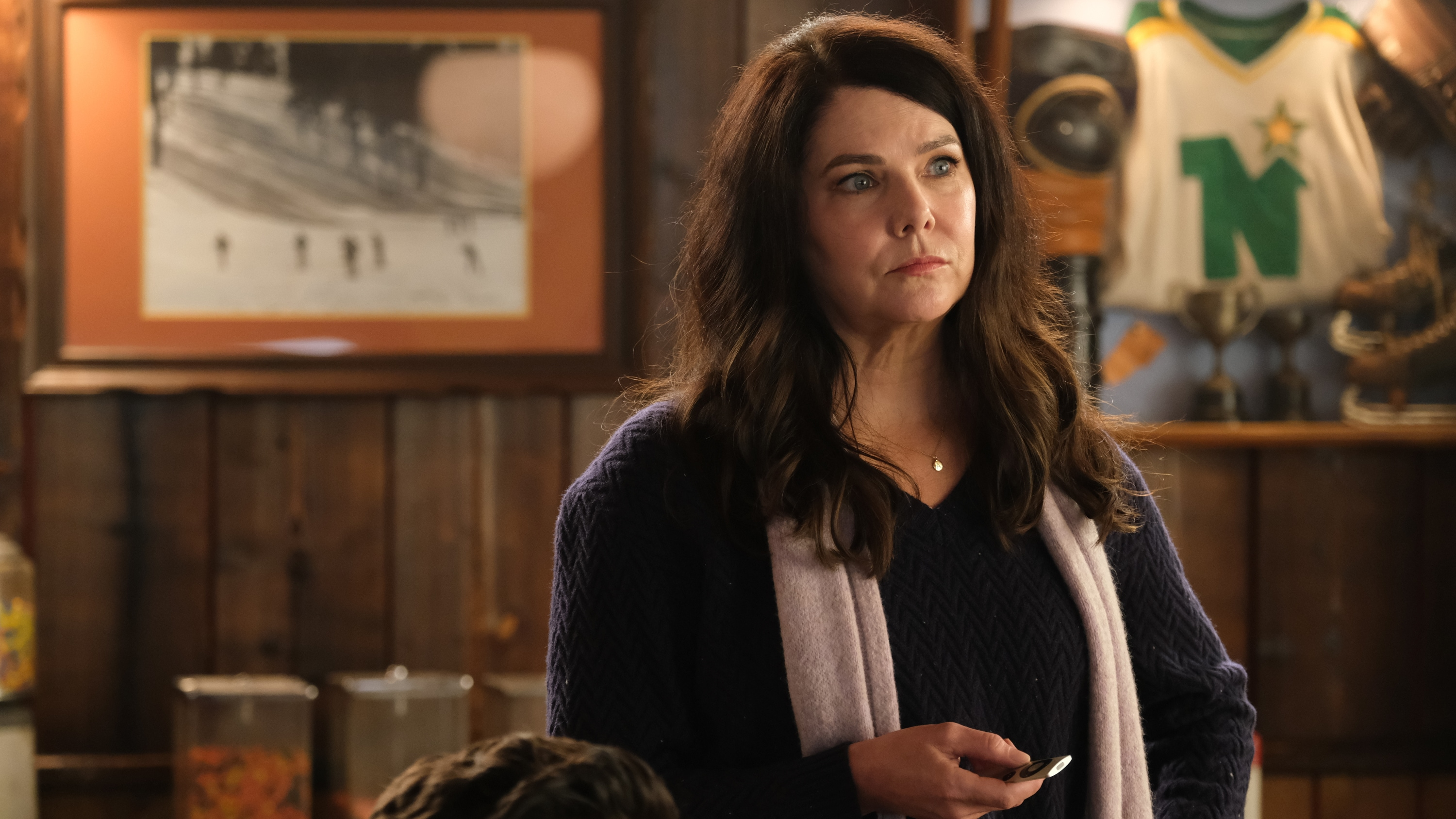 "THE MIGHTY DUCKS: GAME CHANGERS - ""Breakaway"" - Alex tries to be a real coach, Evan recruits Sofi, and the team gets unexpected help...from Bombay.  (Disney/Liane Hentscher) LAUREN GRAHAM"