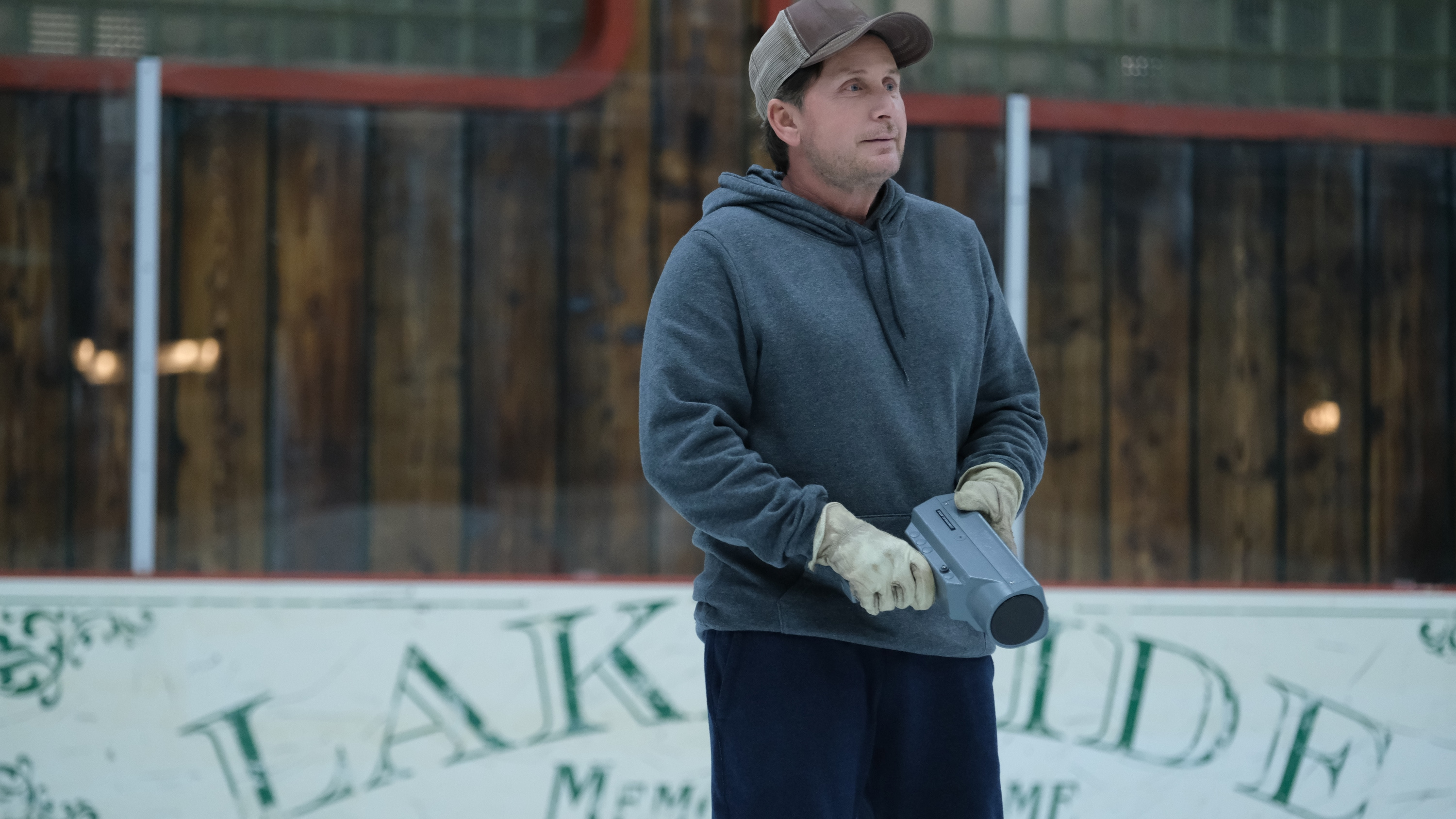 "THE MIGHTY DUCKS: GAME CHANGERS - ""Hockey Moms"" - Bombay helps the Don't Bother moms take on Duck moms on the ice; Sofi's fate hangs in the balance. (Disney/Liane Hentscher) EMILIO ESTEVEZ"