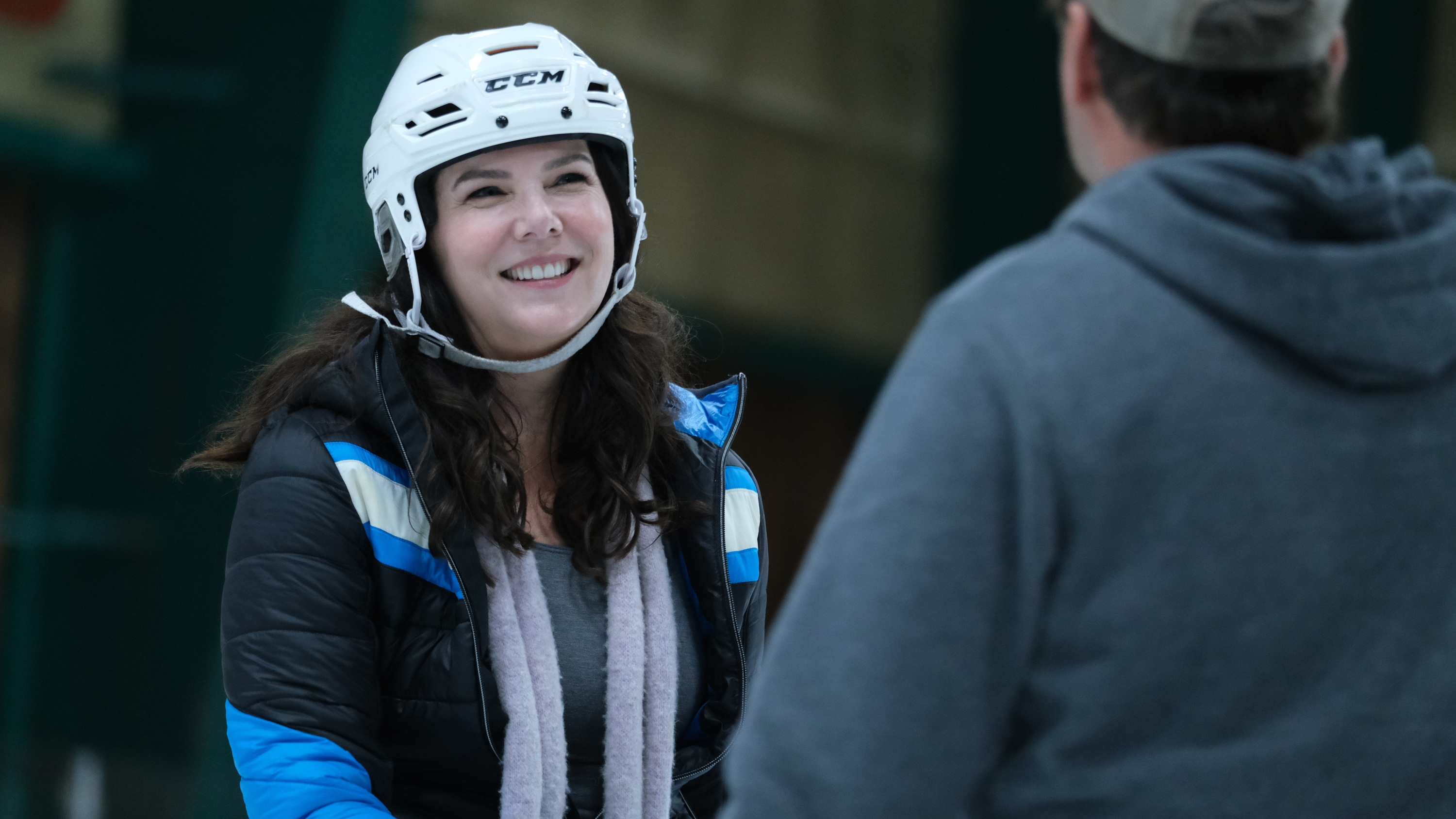 "THE MIGHTY DUCKS: GAME CHANGERS - ""Hockey Moms"" - Bombay helps the Don't Bother moms take on Duck moms on the ice; Sofi's fate hangs in the balance. (Disney/Liane Hentscher) LAUREN GRAHAM"