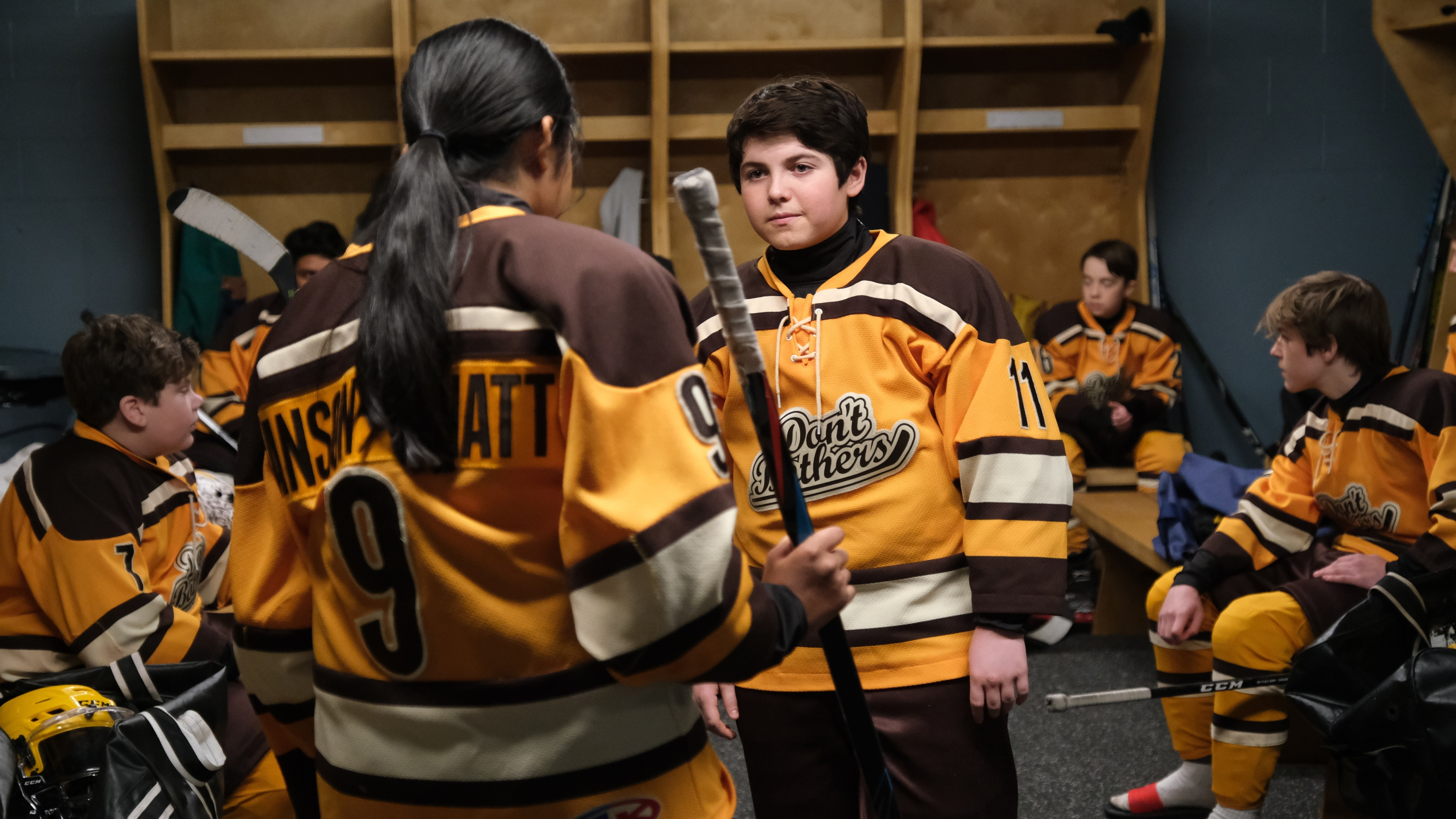"""THE MIGHTY DUCKS: GAME CHANGERS - """"State of Play"""" - The Don't Bothers are forced to choose what's really important, as they face the Ducks at States. (Disney/Liane Hentscher) BRADY NOON"""