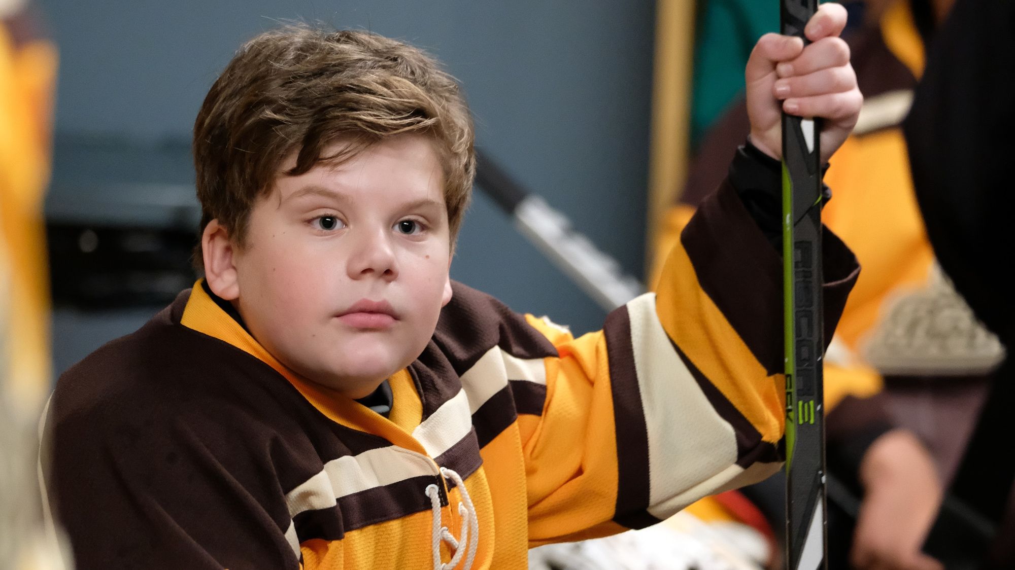 """THE MIGHTY DUCKS: GAME CHANGERS - """"State of Play"""" - The Don't Bothers are forced to choose what's really important, as they face the Ducks at States. (Disney/Liane Hentscher) MAXWELL SIMPKINS"""
