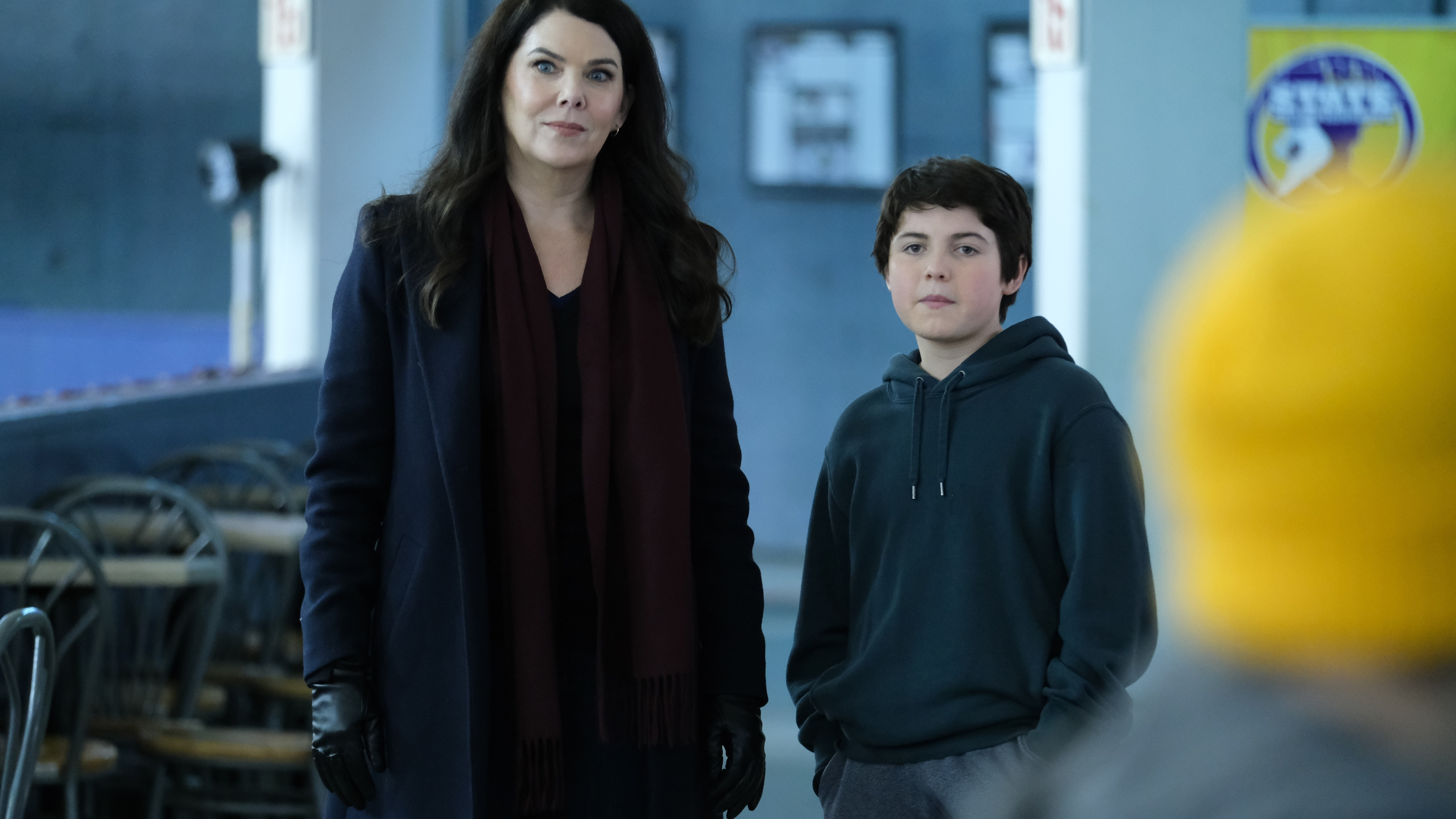 """THE MIGHTY DUCKS: GAME CHANGERS - """"State of Play"""" - The Don't Bothers are forced to choose what's really important, as they face the Ducks at States. (Disney/Liane Hentscher) LAUREN GRAHAM, BRADY NOON"""