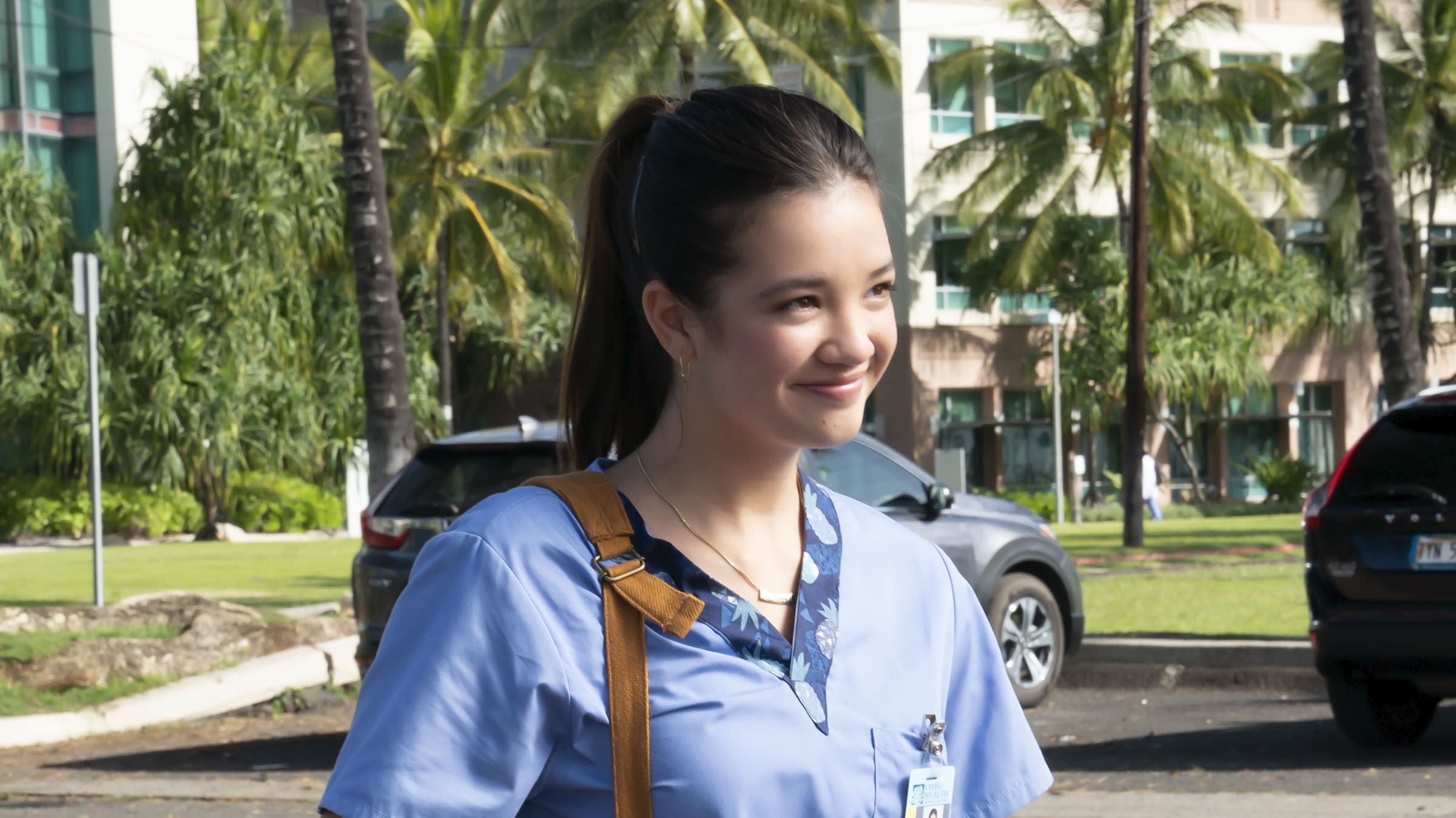 """DOOGIE KAMEALOHA, M.D. - """"License to Not Drive"""" - Yearning for freedom, Lahela defies Clara and takes the family car without permission. (Disney/Karen Neal) PEYTON ELIZABETH LEE"""