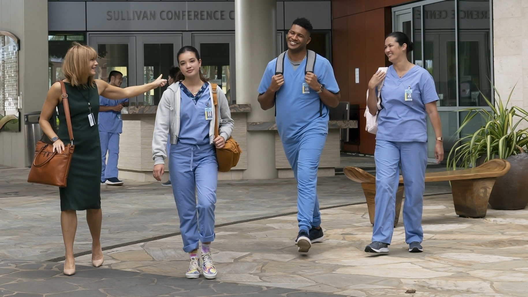 """DOOGIE KAMEALOHA, M.D. - """"License to Not Drive"""" - Yearning for freedom, Lahela defies Clara and takes the family car without permission. (Disney/Karen Neal) KATHLEEN ROSE PERKINS, PEYTON ELIZABETH LEE, JEFFREY BOWYER- CHAPMAN, MAPUANA MAKIA"""
