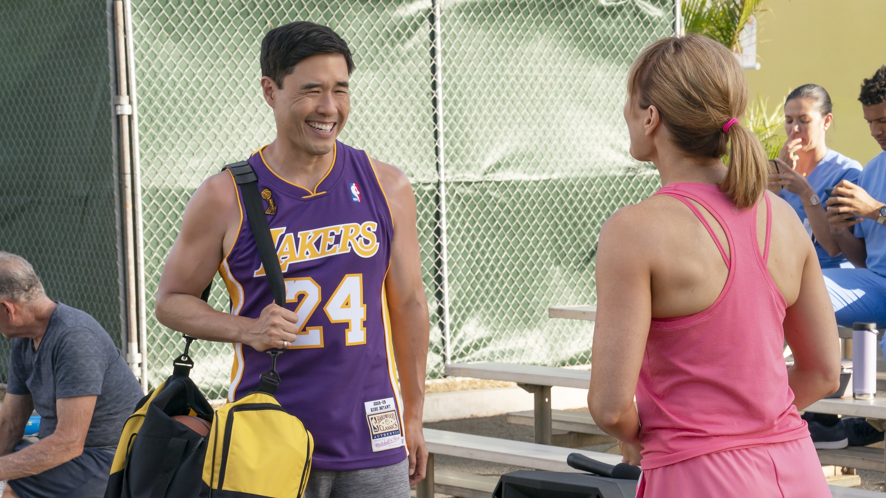 """DOOGIE KAMEALOHA, M.D. - """"Dunk Cost"""" - Benny helps Lahela rebalance after a new passion goes too far; Clara goes hard for Chief of Staff. (Disney/Karen Neal) RANDALL PARK"""
